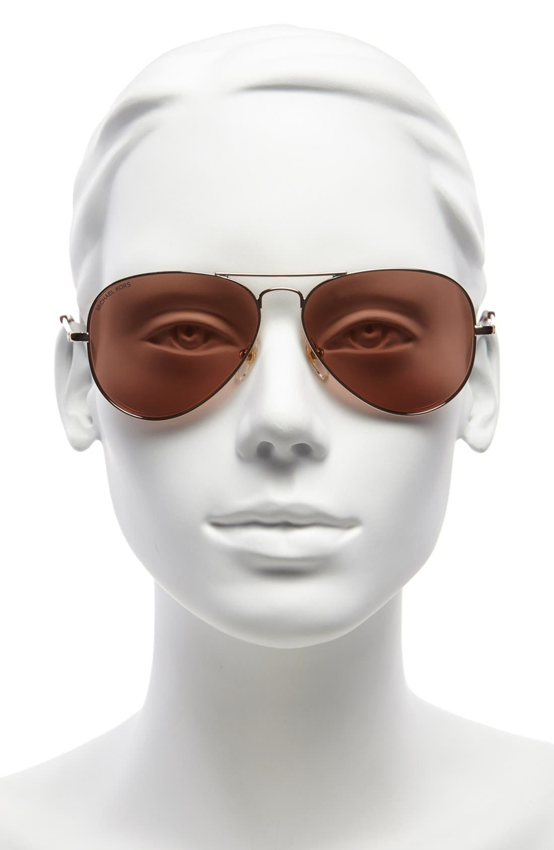 Alternate Image 2  - MICHAEL Michael Kors 'Dylan' 58mm Aviator Sunglasses