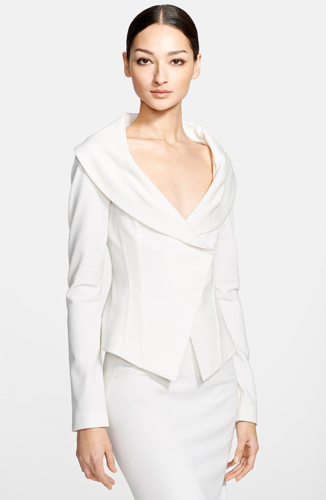 Alternate Image 1 Selected - Donna Karan Collection Portrait Collar Jersey Jacket