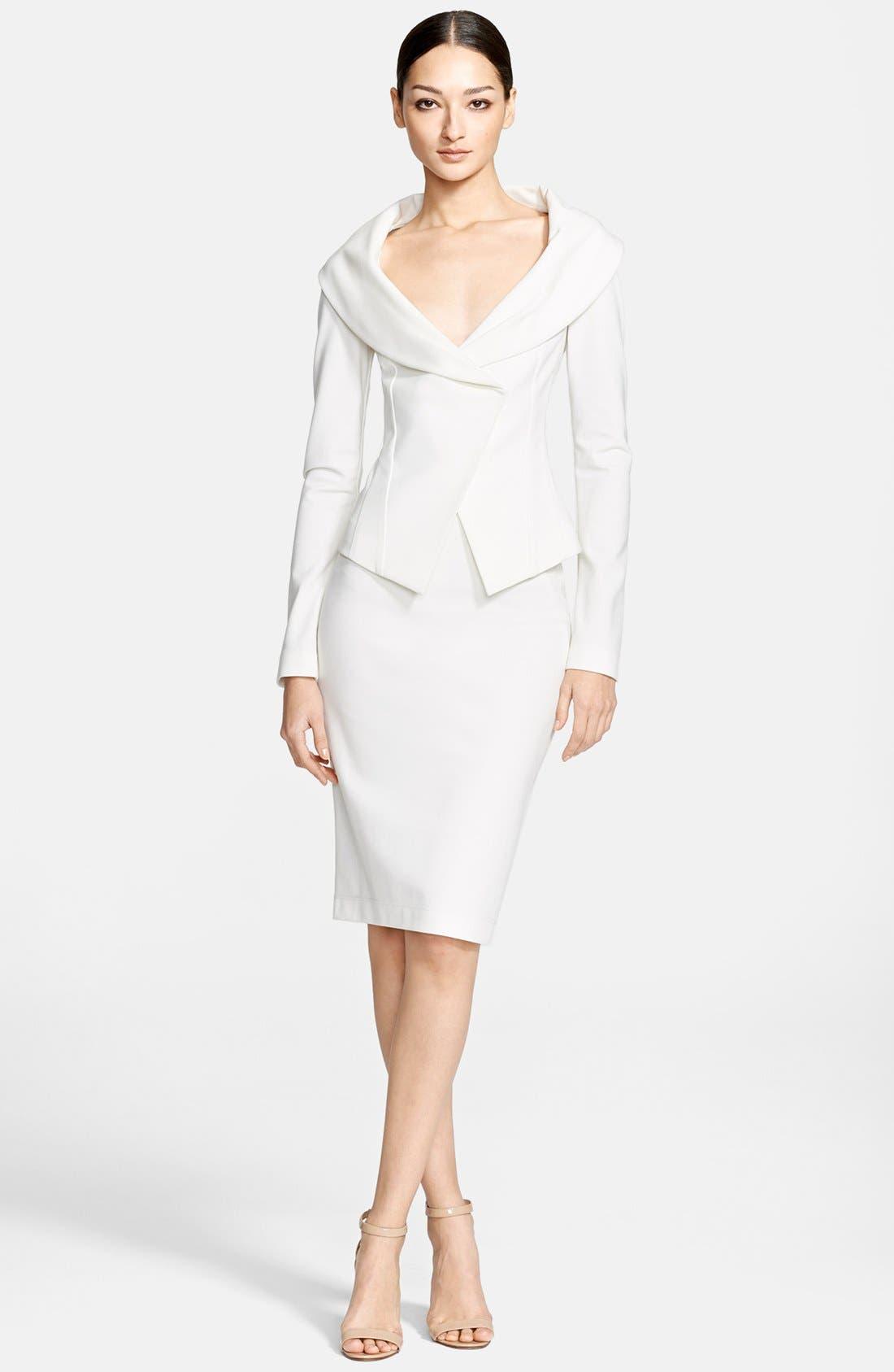 Alternate Image 3  - Donna Karan Collection Portrait Collar Jersey Jacket