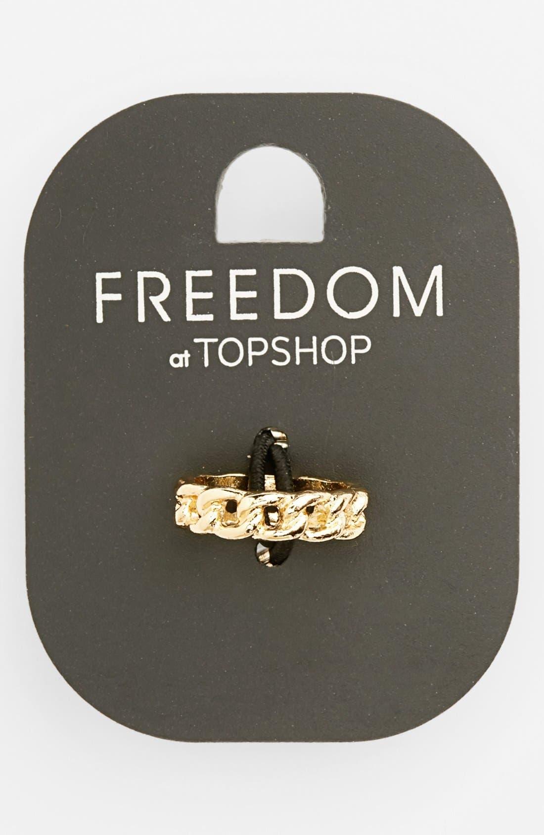 Main Image - Topshop Chain Midi Ring