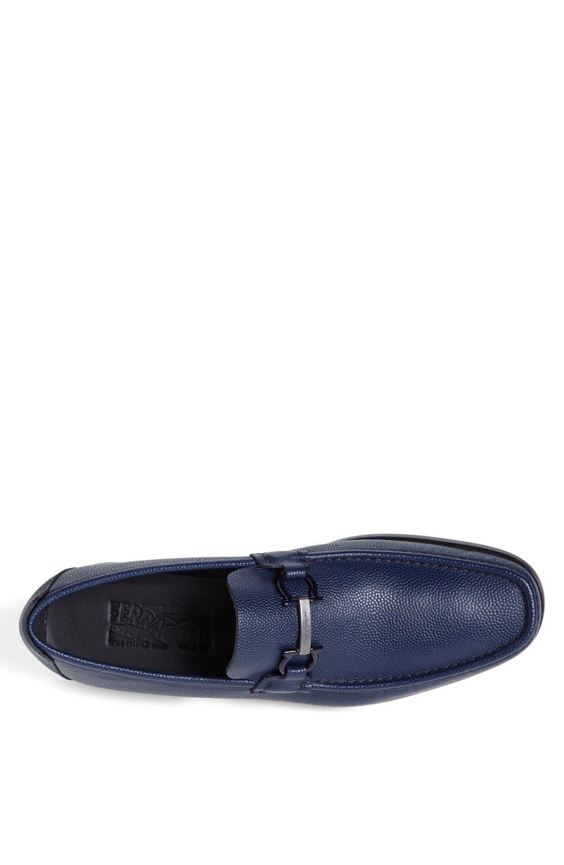 Alternate Image 3  - Salvatore Ferragamo 'Regal' Pebbled Leather Loafer