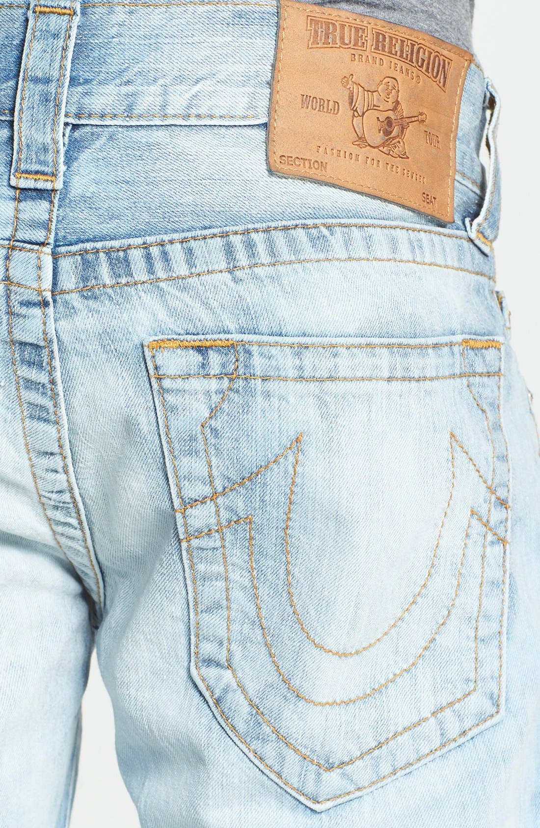 Alternate Image 4  - True Religion Brand Jeans 'Geno' Straight Leg Jeans (YLL Antelope)