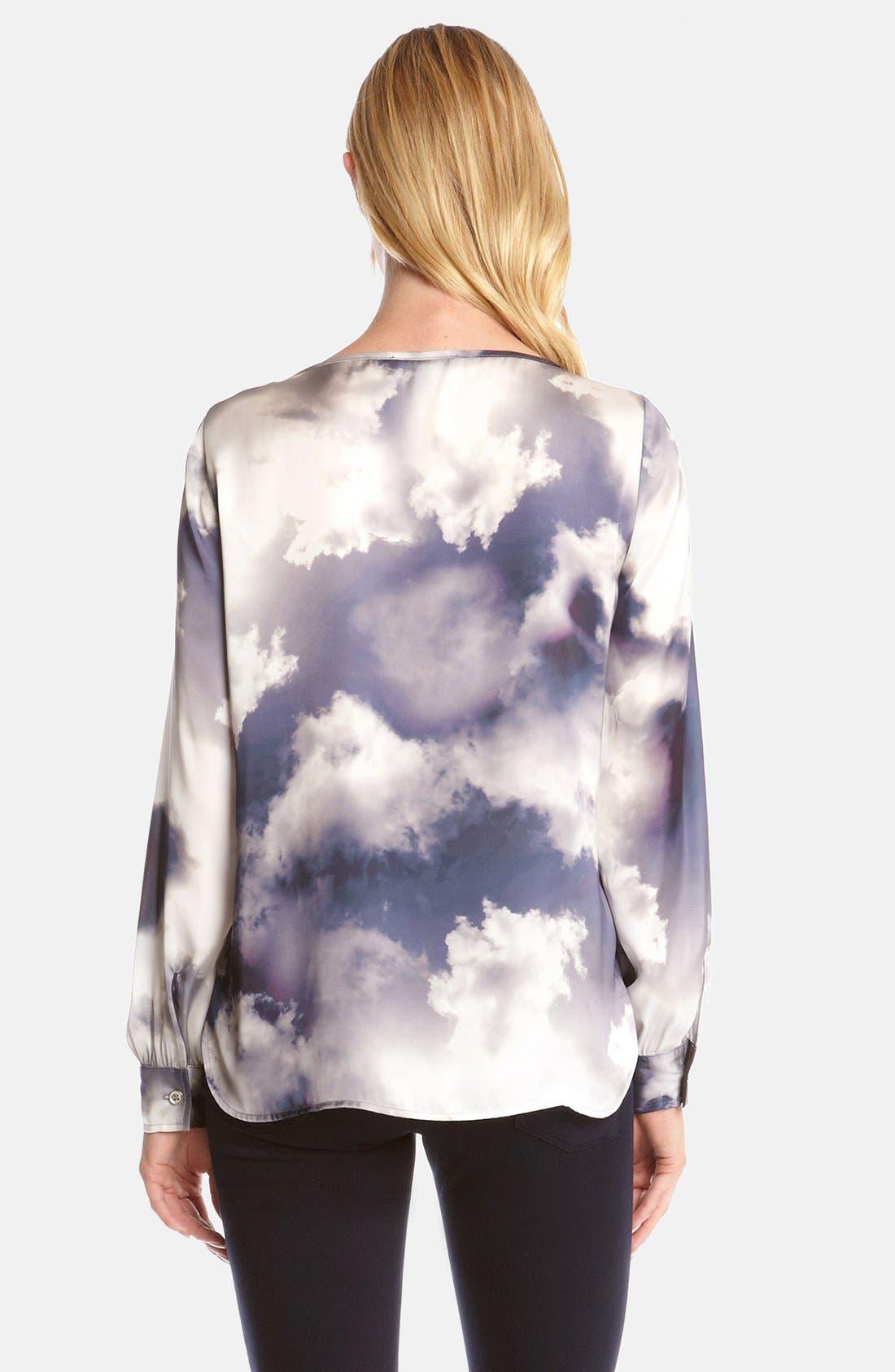 Alternate Image 2  - Karen Kane Cloud Print Blouse