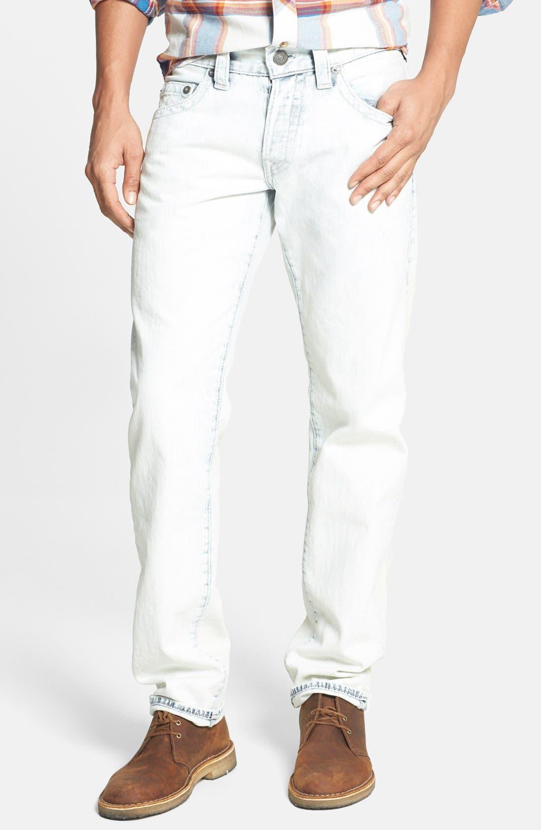 Alternate Image 2  - True Religion Brand Jeans 'Geno' Straight Leg Jeans (Azml White Keys)