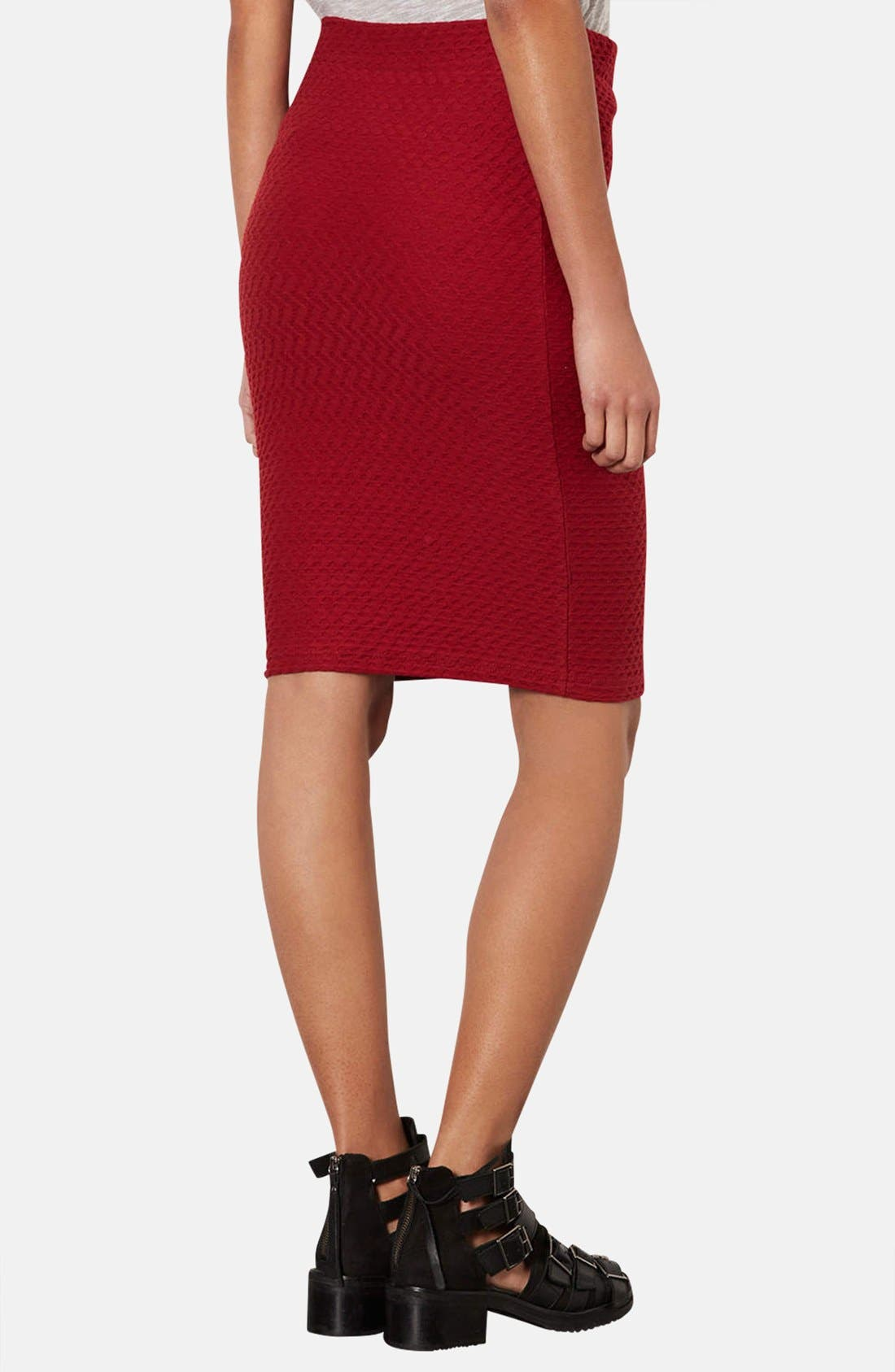 Alternate Image 2  - Topshop Chevron Texture Maternity Tube Skirt