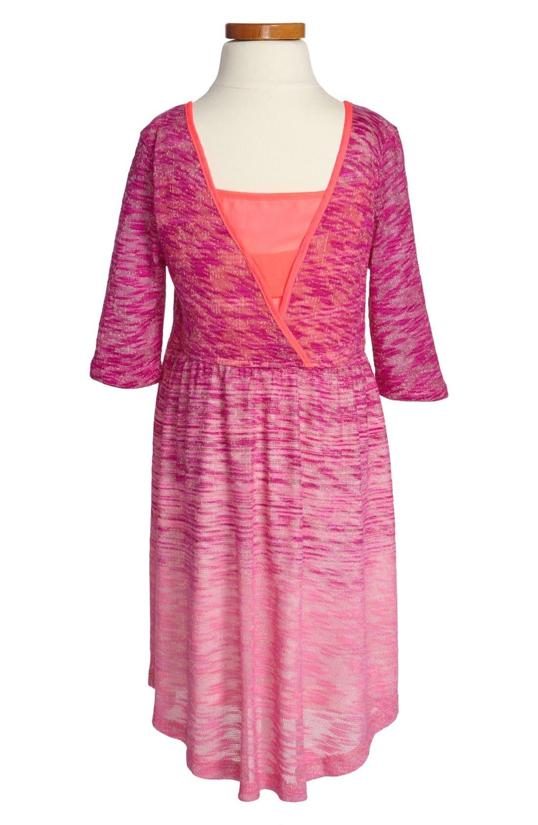 Alternate Image 2  - W Girl Patch Pocket Ombré Dress (Little Girls & Big Girls)