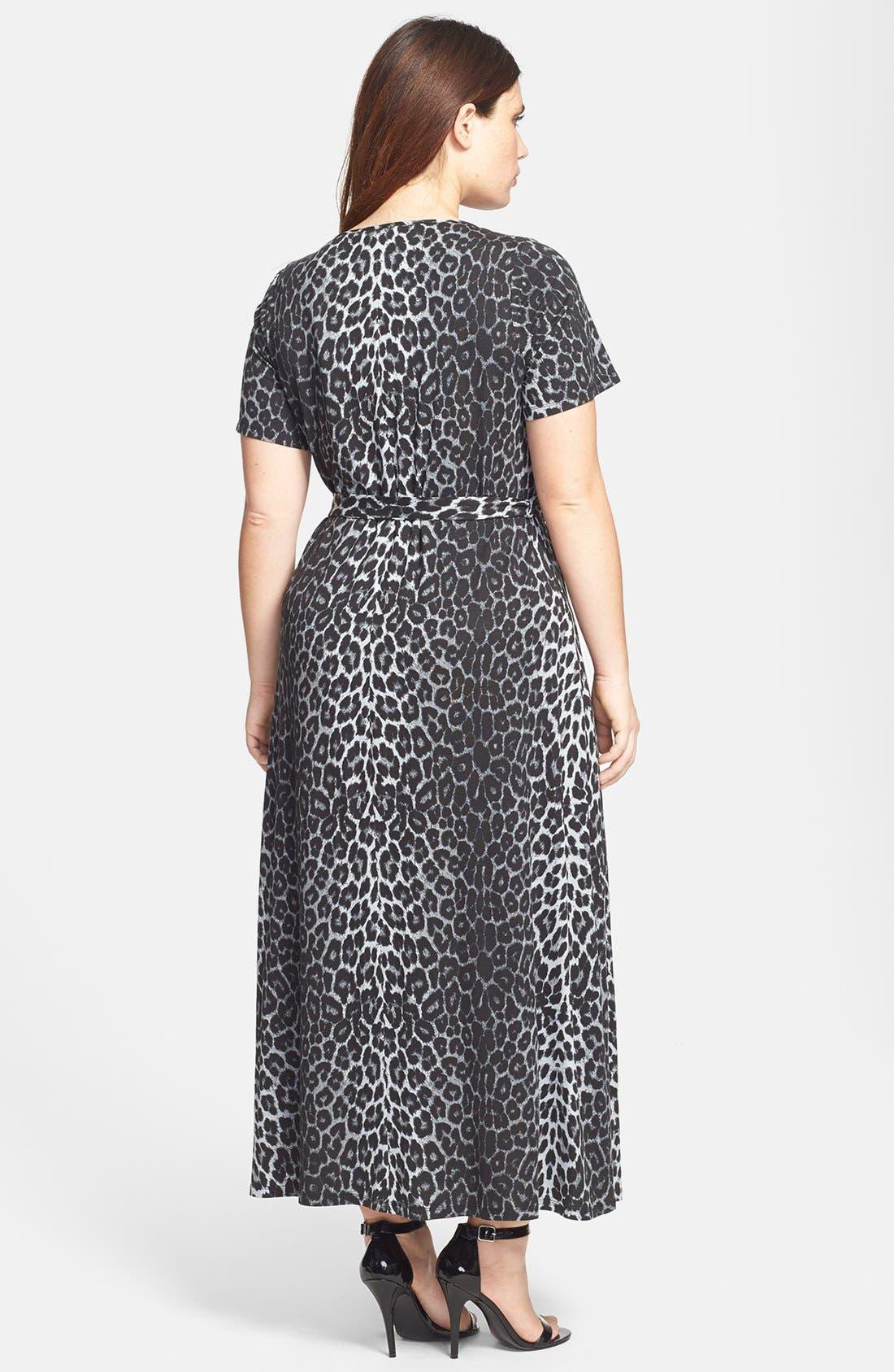 Alternate Image 2  - Evans Animal Print Maxi Dress (Plus Size)