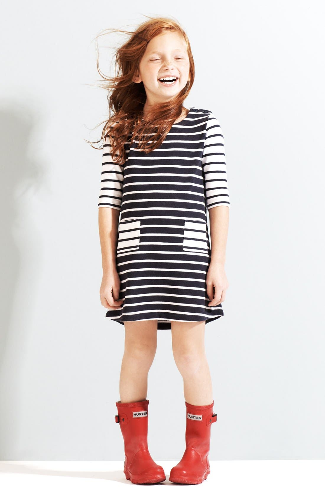 Main Image - Tucker + Tate Knit Dress & Hunter Packable Rain Boot (Little Girls & Big Girls)