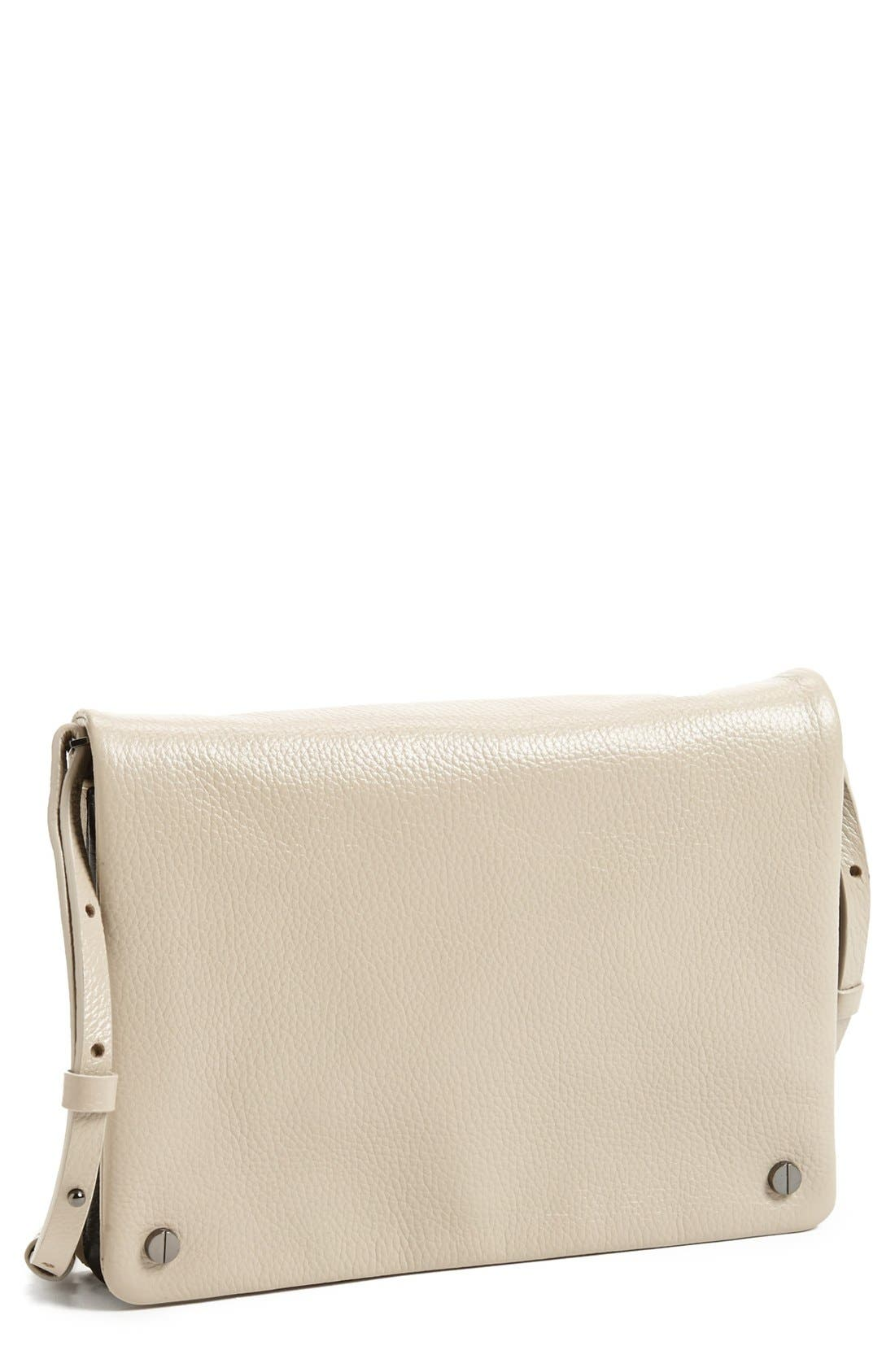 Alternate Image 1 Selected - Halogen® Two-Tone Leather Crossbody Bag
