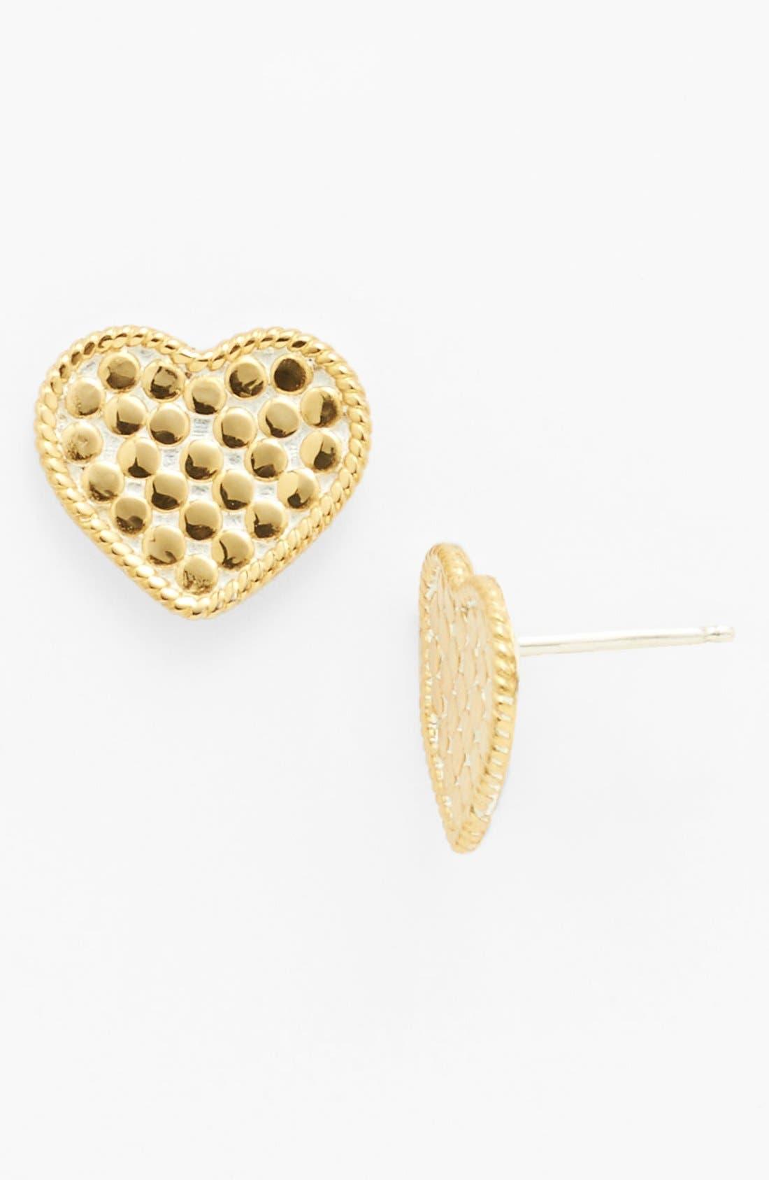 Alternate Image 1 Selected - Anna Beck 'Gili' Heart Stud Earrings