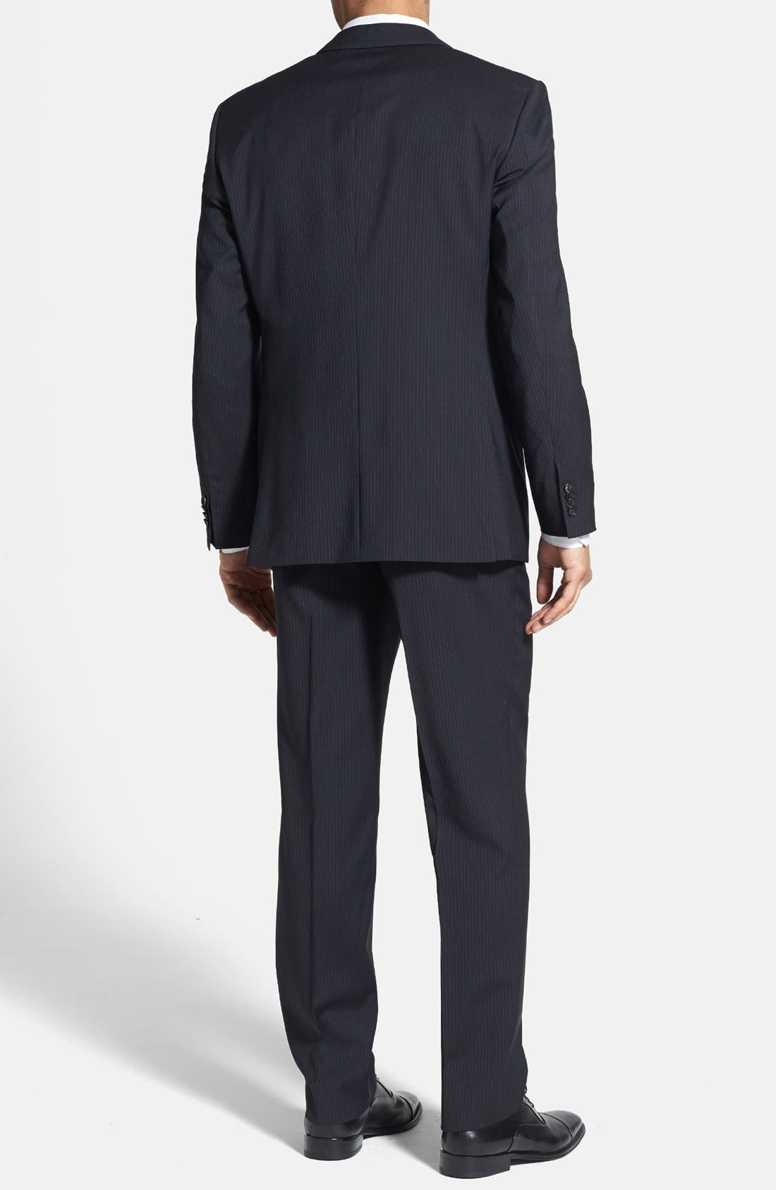 Alternate Image 2  - BOSS HUGO BOSS 'James/Sharp' Trim Fit Stripe Suit