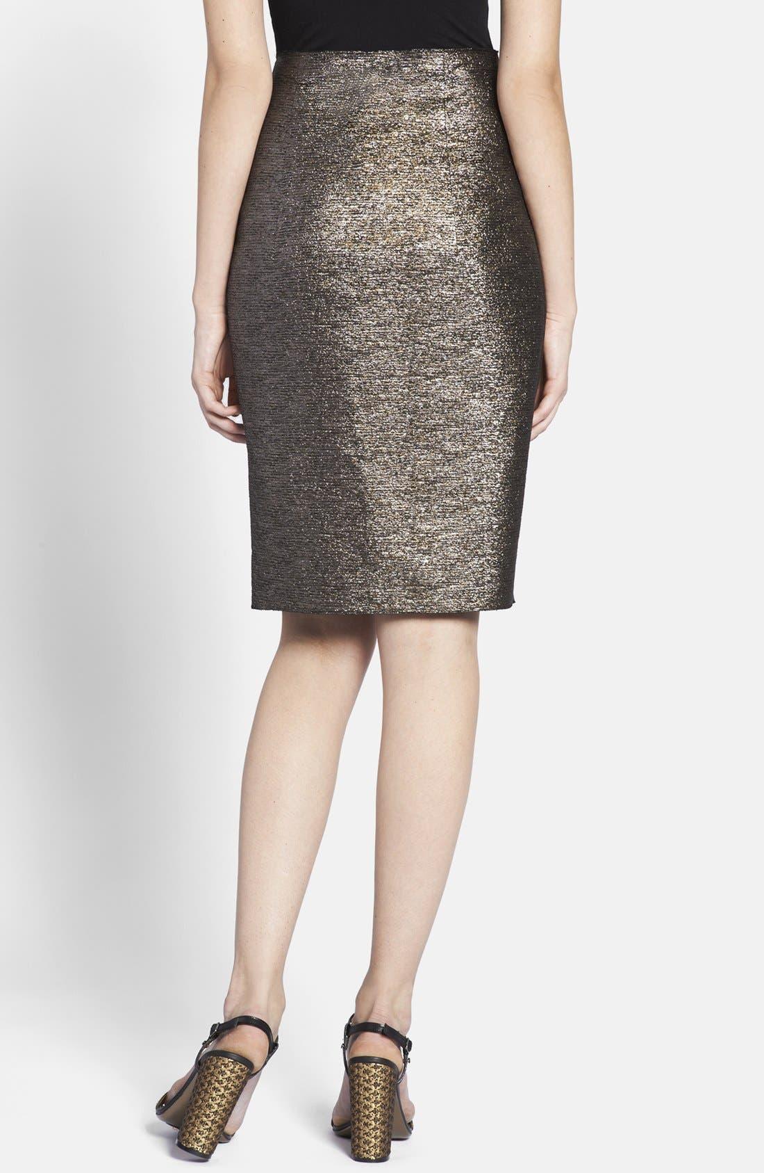 Alternate Image 2  - Lanvin Front Bow Taffeta Skirt