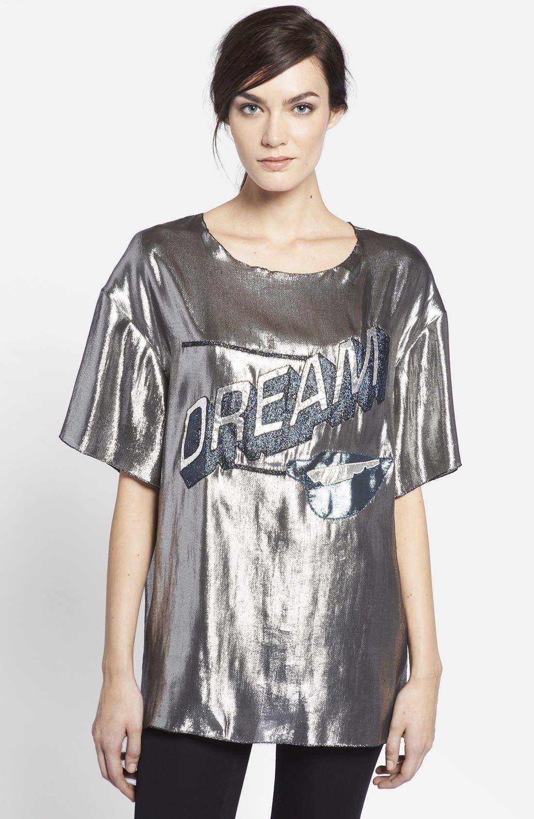 Alternate Image 1 Selected - Lanvin 'Dream' Lamé Top