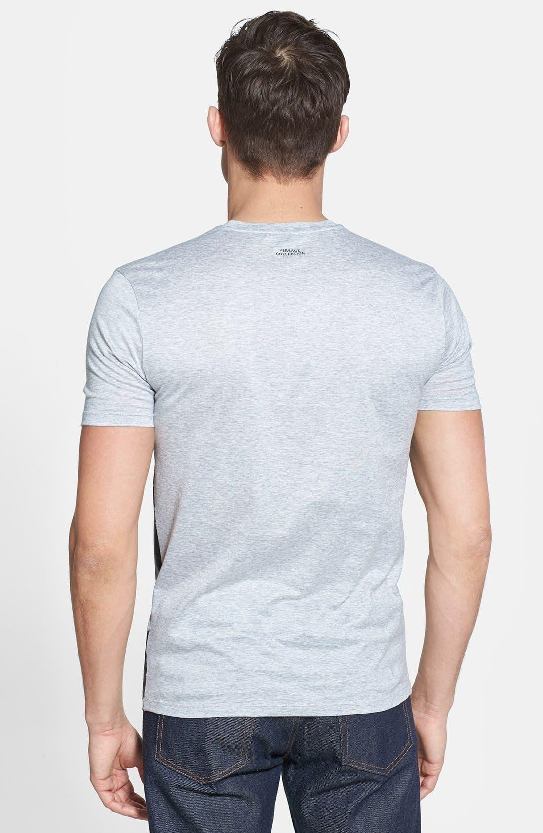 Alternate Image 2  - Versace Camo Front Print V-Neck T-Shirt