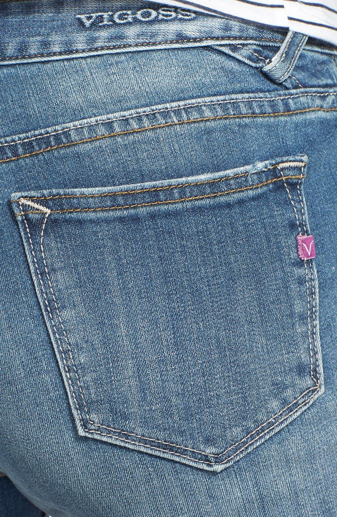 Alternate Image 3  - Vigoss High Waist Skinny Jeans (Medium) (Juniors)
