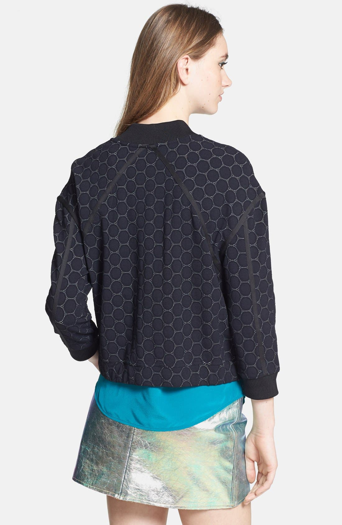 Alternate Image 2  - MARC BY MARC JACOBS 'Leyna Dotty' Ponte Bomber Jacket