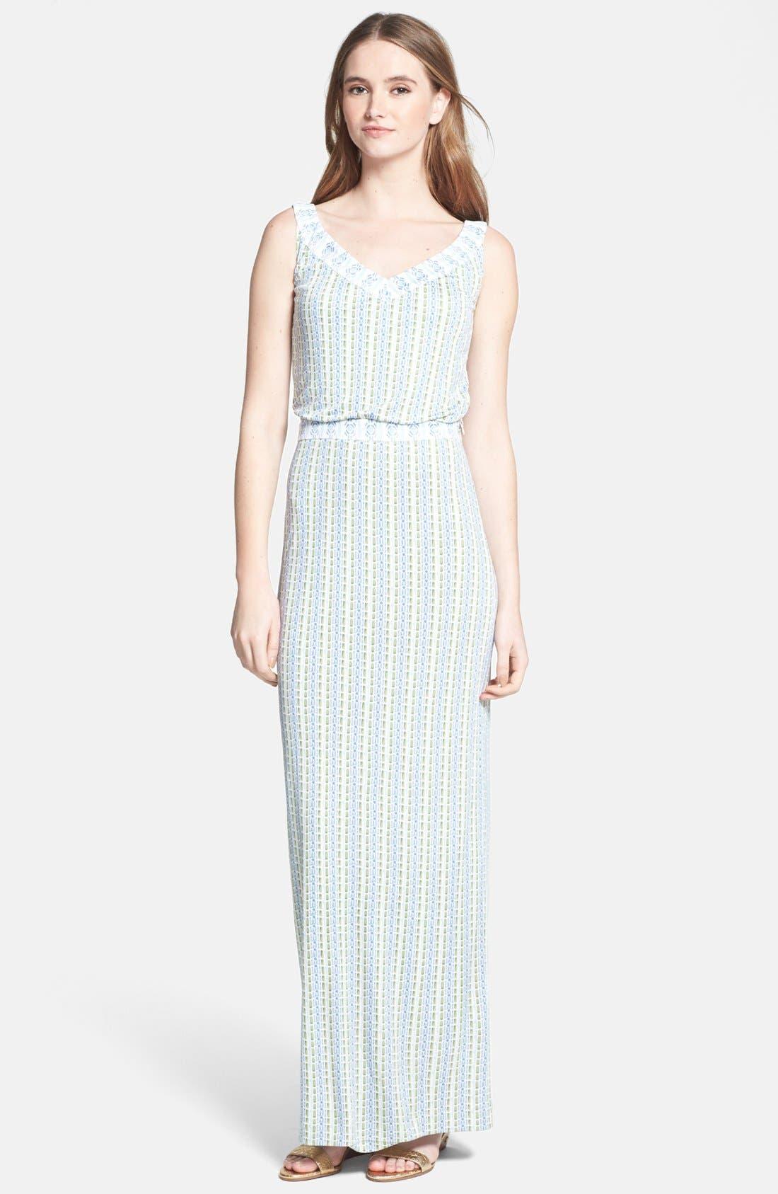 Main Image - Tory Burch 'Micky' Silk Blouson Maxi Dress