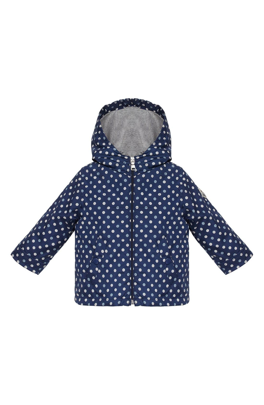 Alternate Image 1 Selected - Moncler Polka Dot Jacket (Toddler Girls)