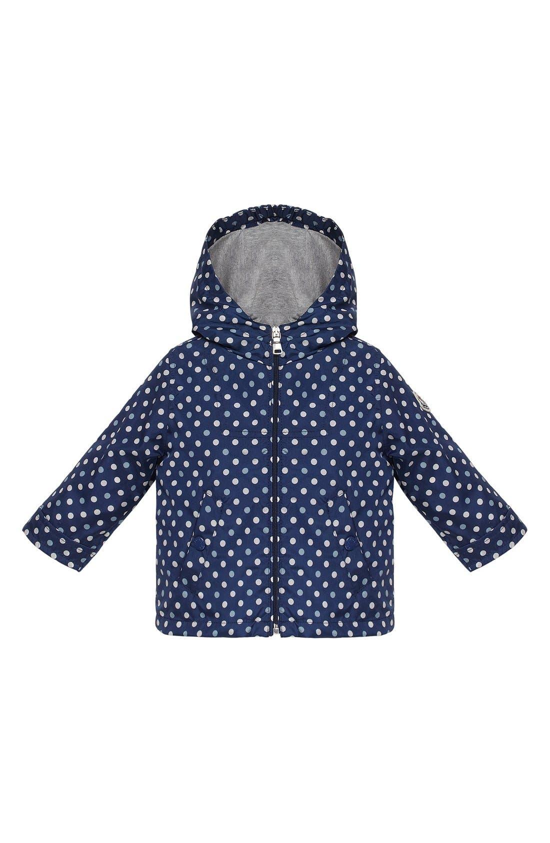 Main Image - Moncler Polka Dot Jacket (Toddler Girls)