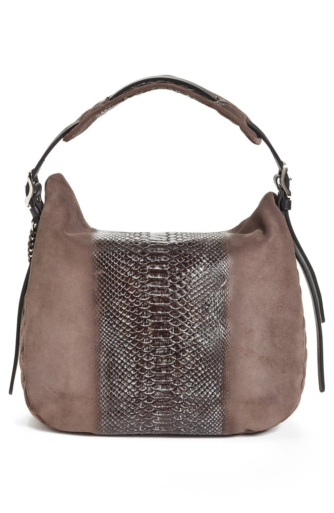 Alternate Image 4  - Jimmy Choo 'Small Boho' Python Print Suede Hobo