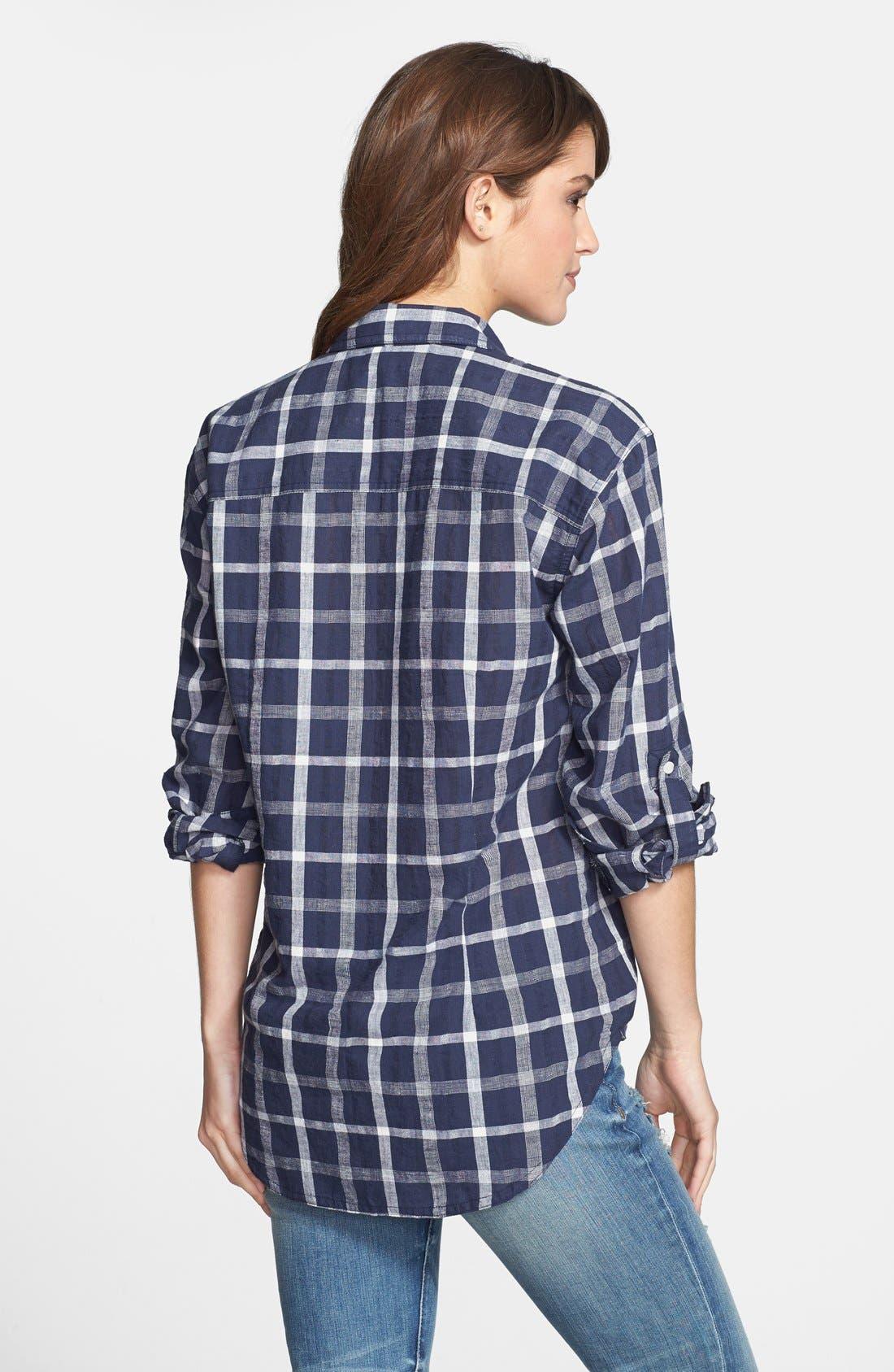 Alternate Image 2  - Sandra Ingrish Windowpane Plaid Boyfriend Shirt