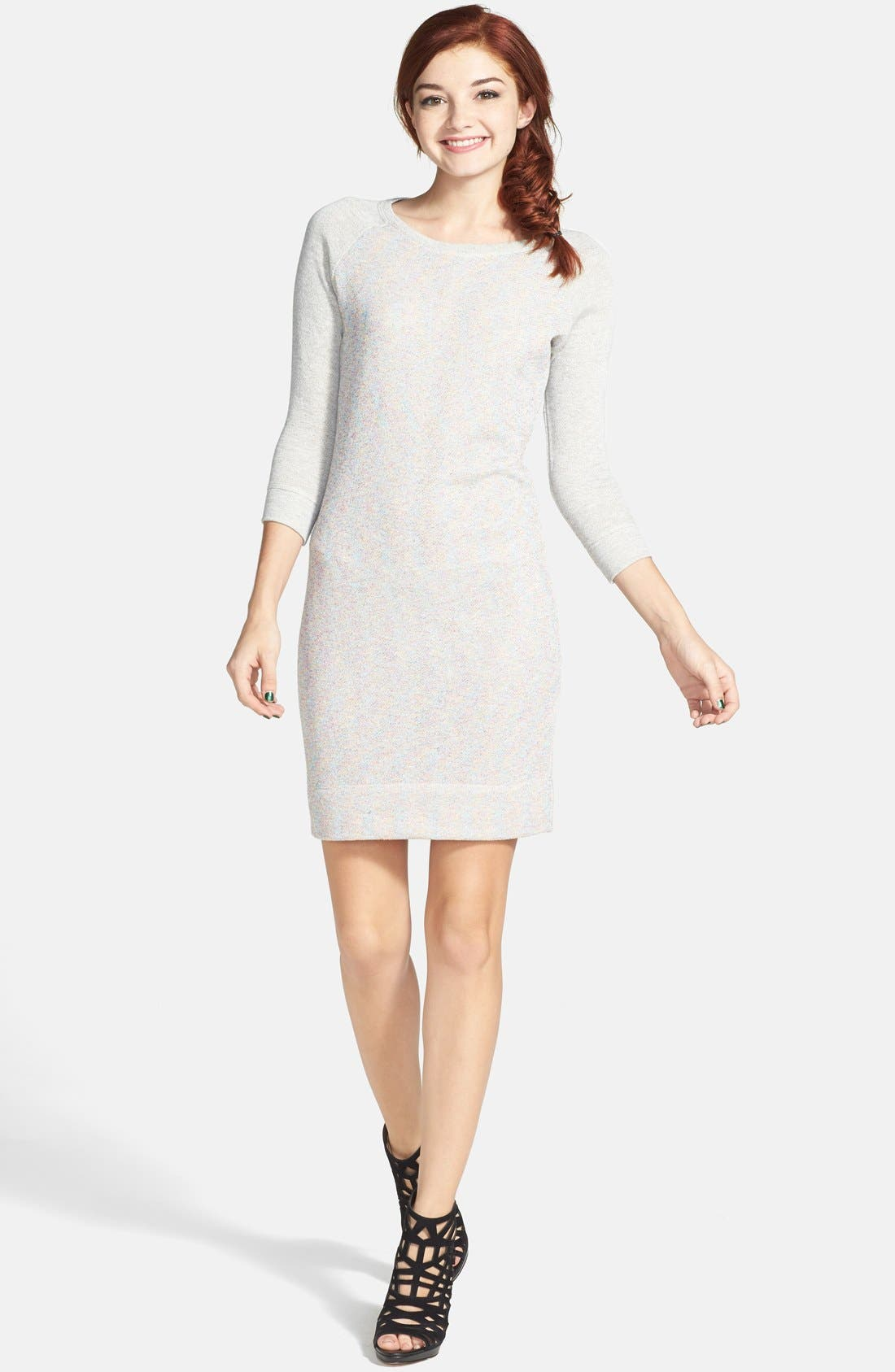 Alternate Image 1 Selected - Socialite French Terry Body-Con Dress (Juniors) (Online Only)