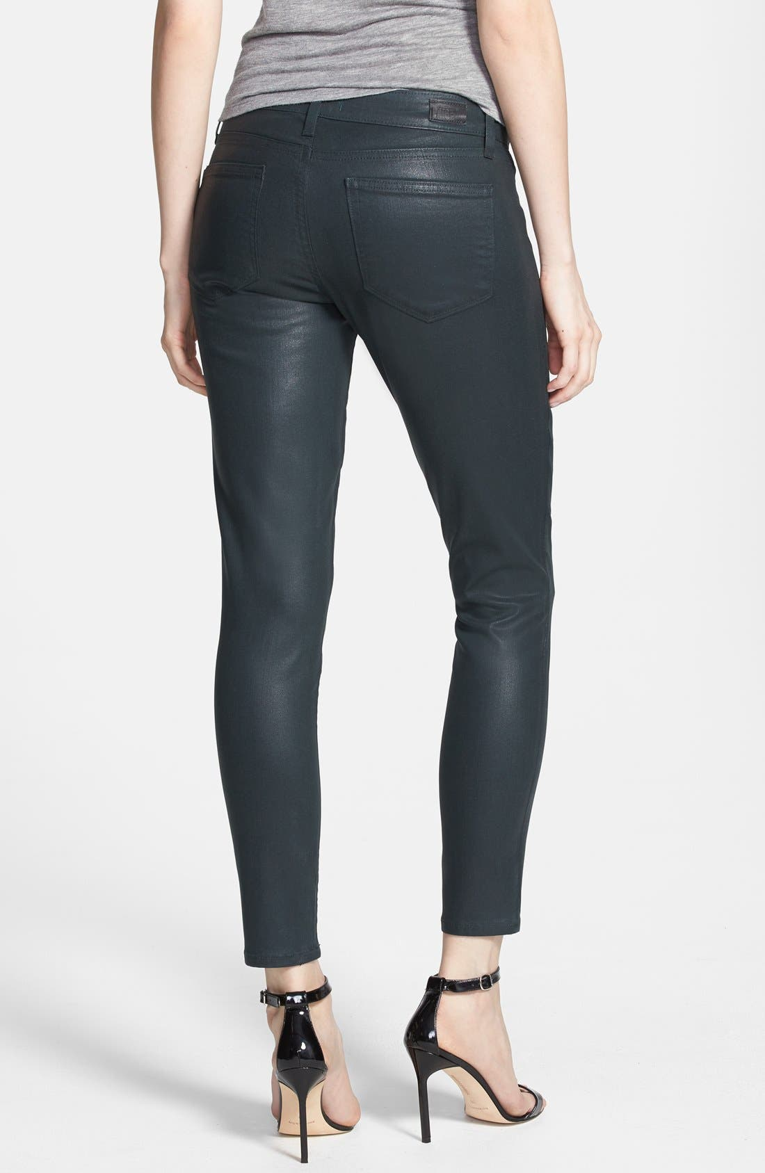 Alternate Image 2  - Paige Denim 'Verdugo' Coated Skinny Ankle Jeans (Evergreen Silk)