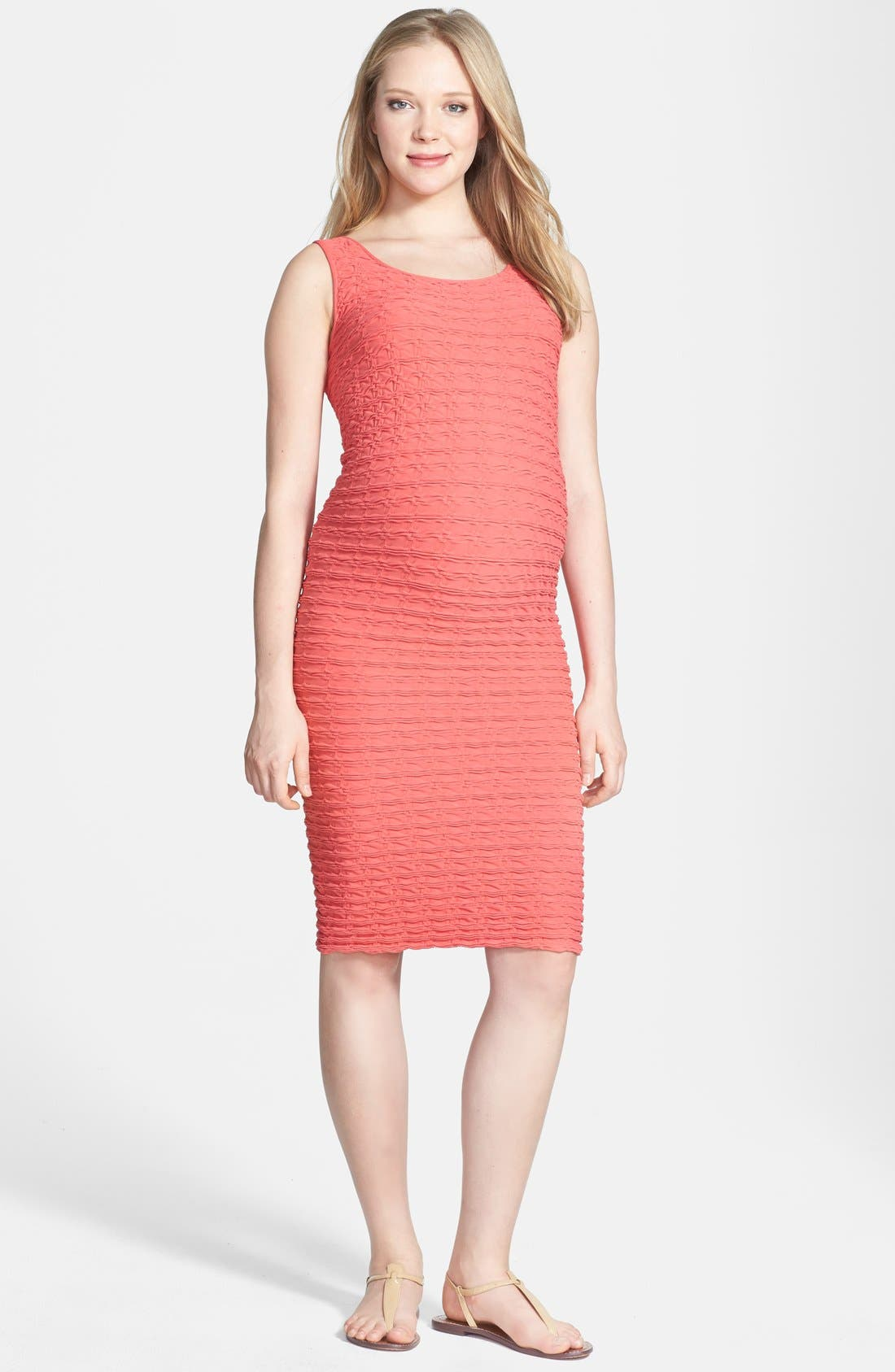 TEES BY TINA Crinkle Tank Maternity Dress