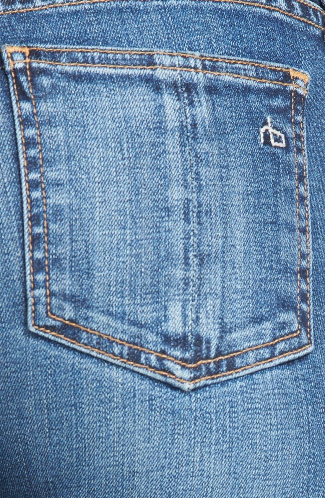 Alternate Image 3  - rag & bone/JEAN Crop Skinny Jeans (Sonoma)