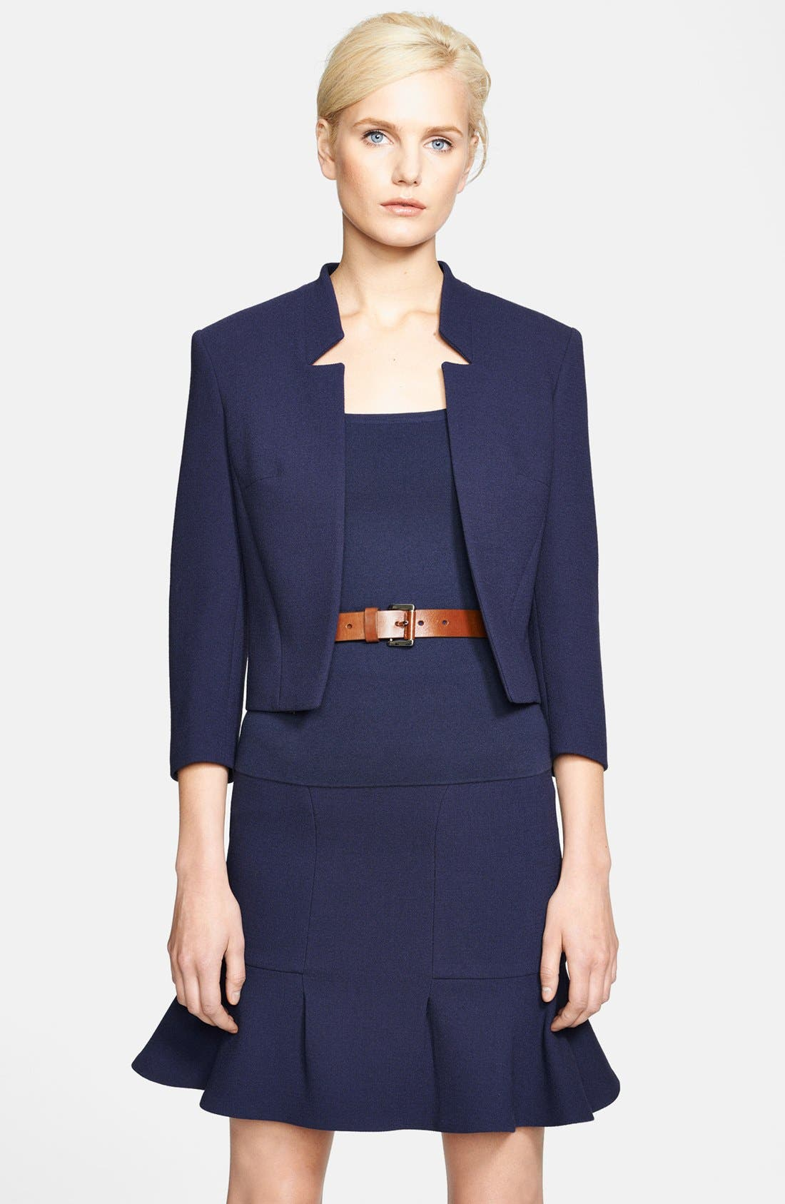 Alternate Image 1 Selected - Michael Kors Bouclé Stretch Wool Jacket
