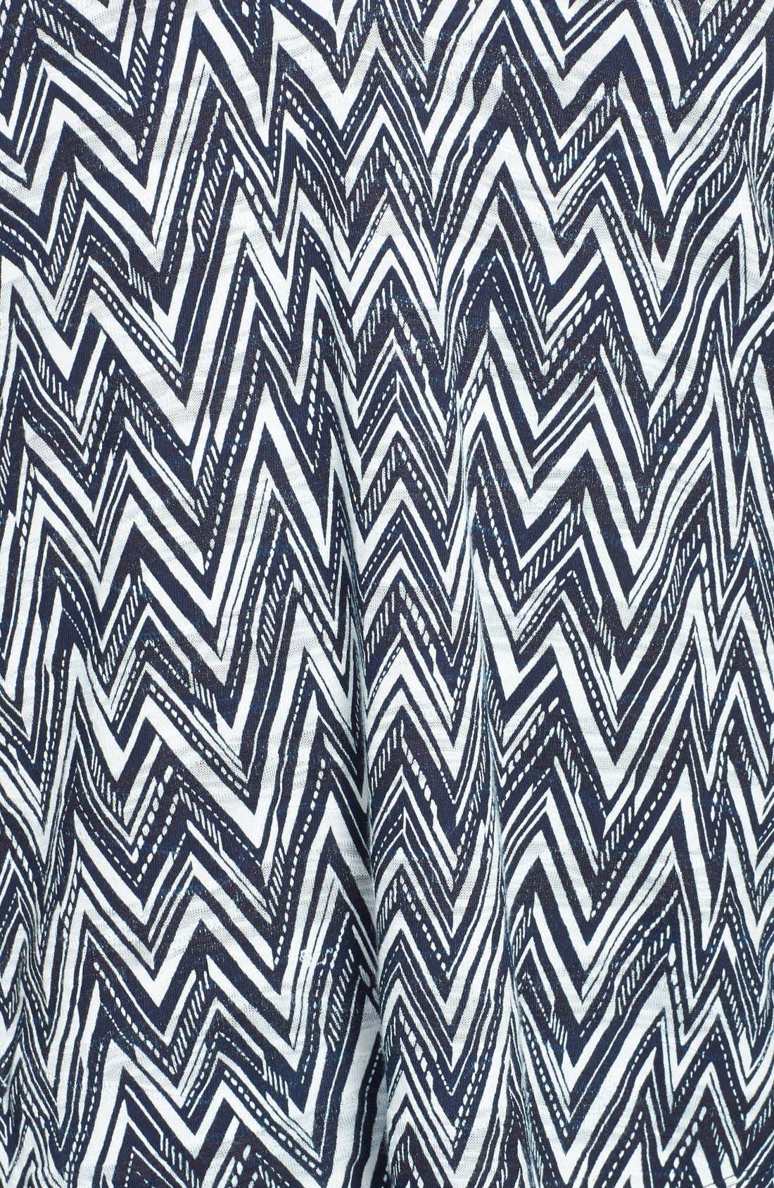 Alternate Image 3  - Lucky Brand Chevron Print Top (Plus Size)