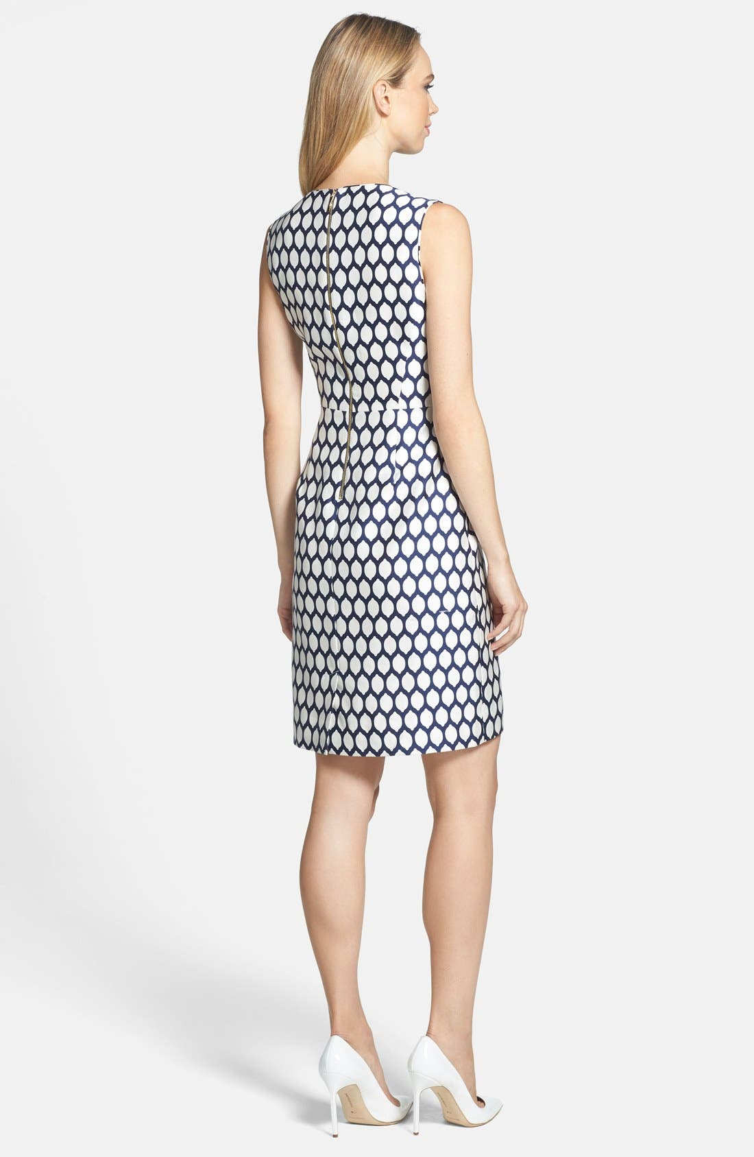 Alternate Image 2  - kate spade new york 'emrick' print cotton blend sheath dress