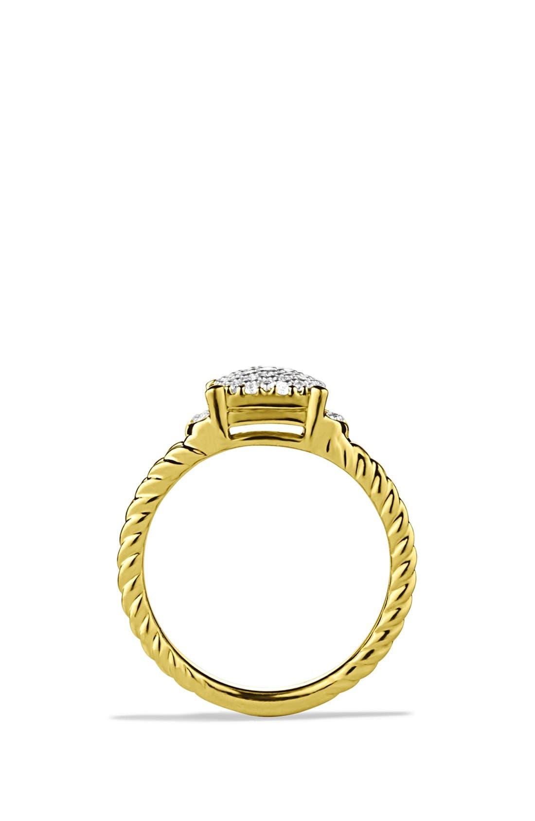 Alternate Image 4  - David Yurman 'Wheaton' Petite Ring with Diamonds in Gold