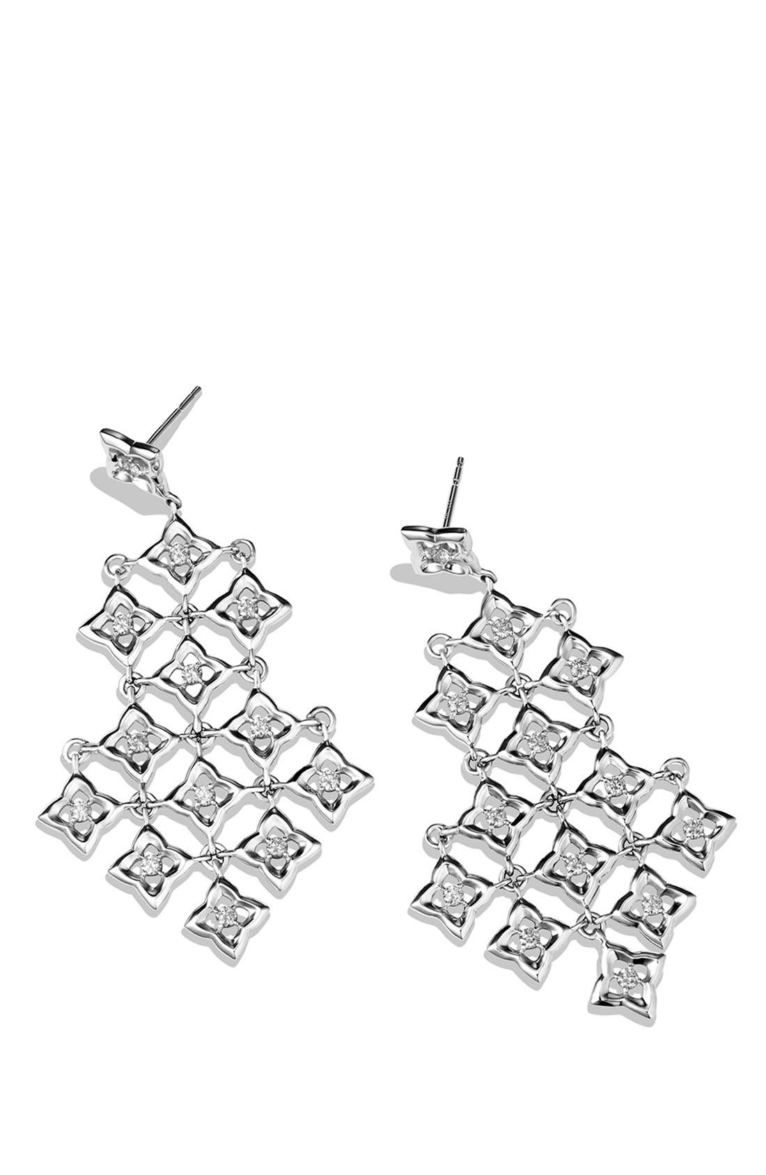 Alternate Image 2  - David Yurman 'Quatrefoil' Chandelier Earrings with Diamonds