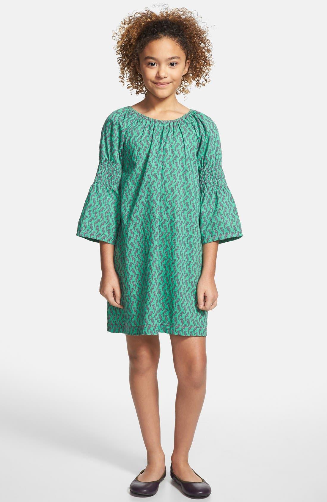 Alternate Image 2  - Peek 'Simona' Smocked Sleeve Dress (Toddler Girls, Little Girls & Big Girls)