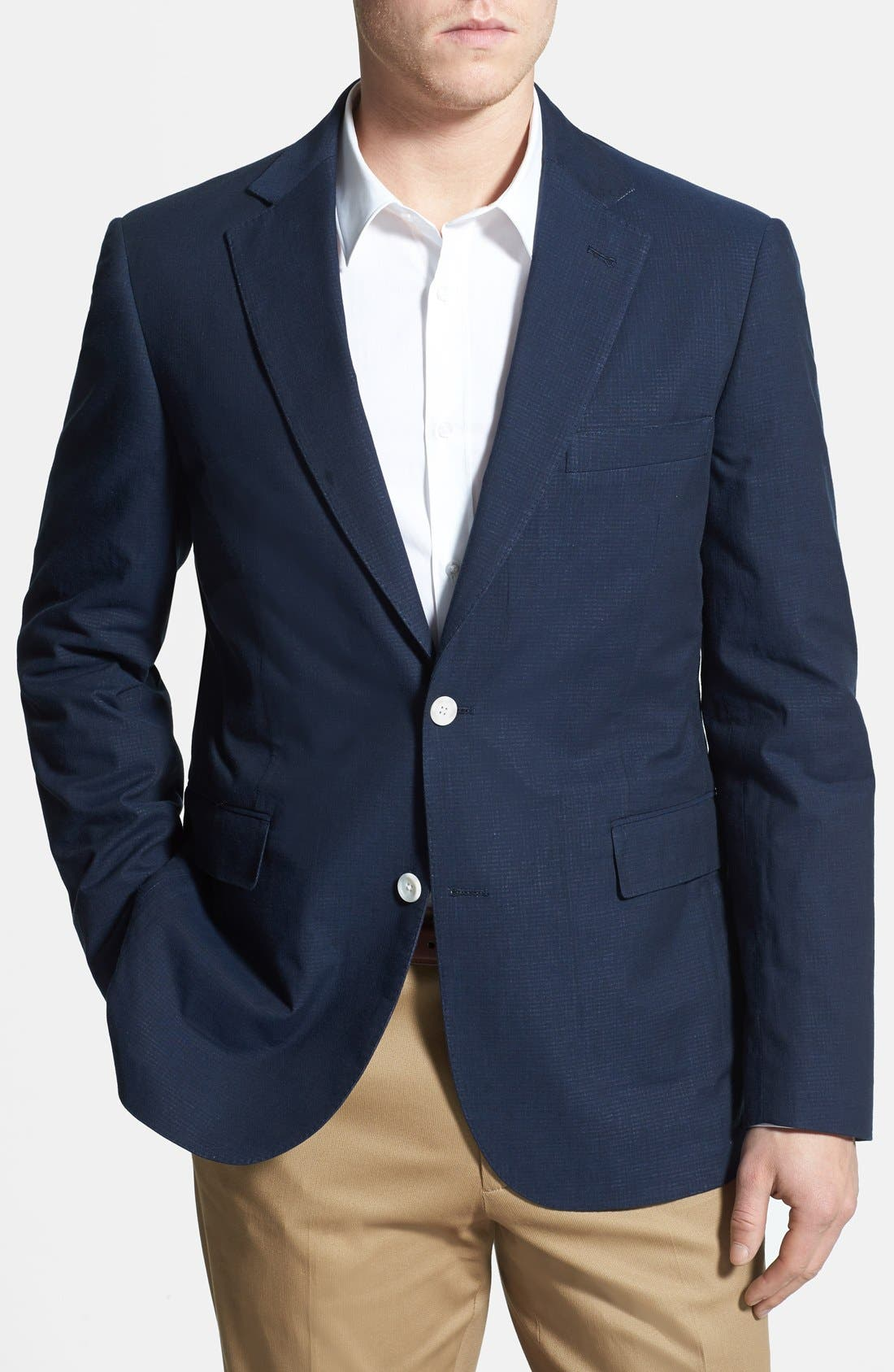 Main Image - 2BSV NAVY GINGHAM SPORTCOAT