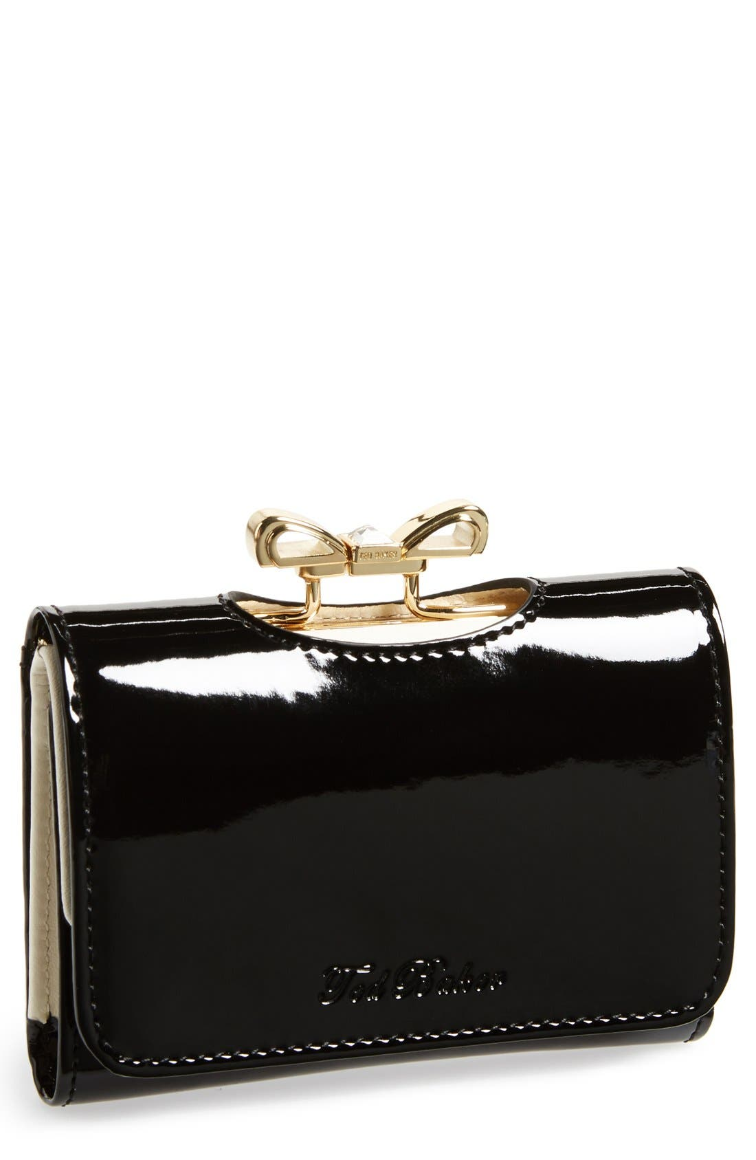 Main Image - Ted Baker London 'Small' Crystal Bow Wallet
