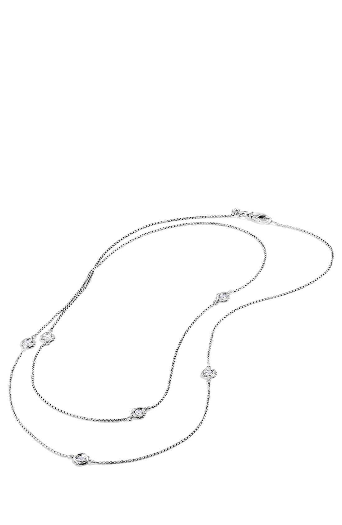 Alternate Image 2  - David Yurman 'Infinity' Necklace with Diamonds