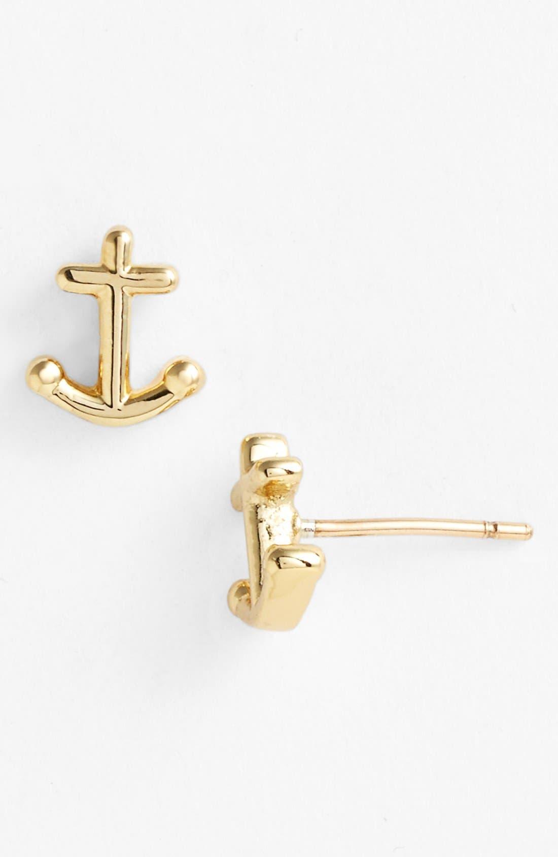 Main Image - kate spade new york 'anchors away' mini stud earrings