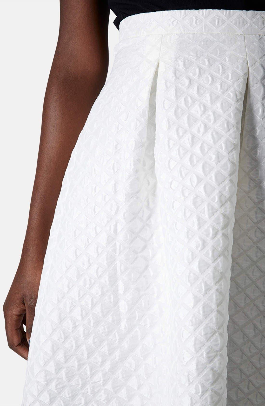 Alternate Image 4  - Topshop Diamond Jacquard Midi Skirt