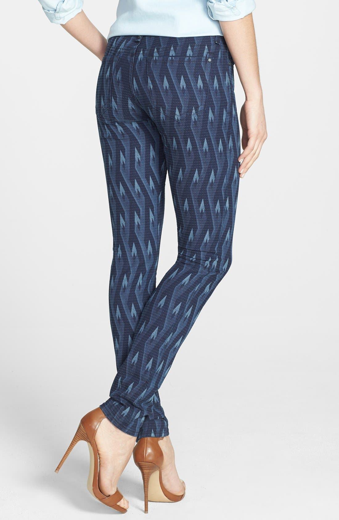 Alternate Image 2  - MARC BY MARC JACOBS 'Gaia' Print Super Skinny Jeans (Diamond Flame)