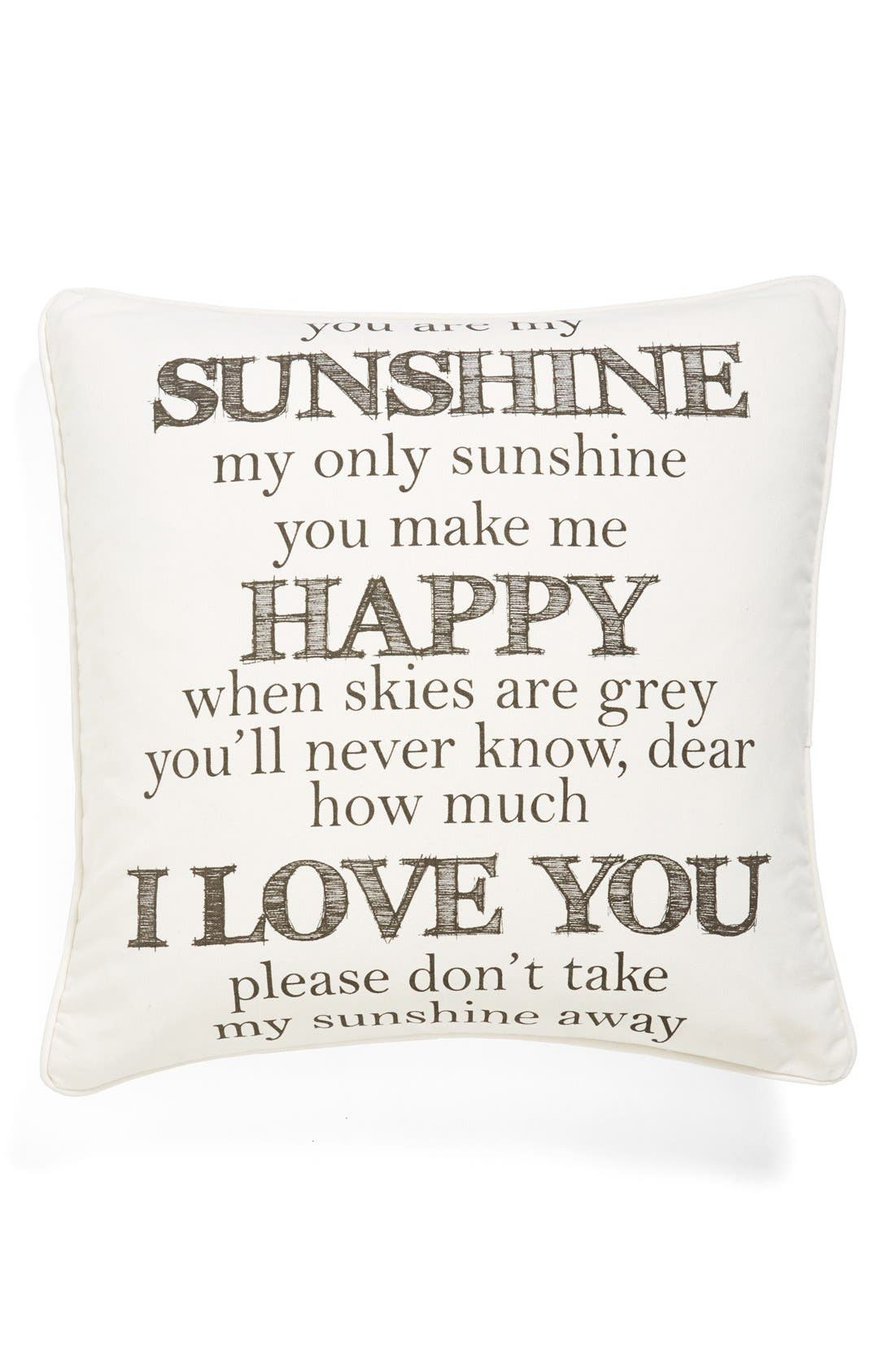 Alternate Image 1 Selected - Levtex 'You Are My Sunshine' Pillow