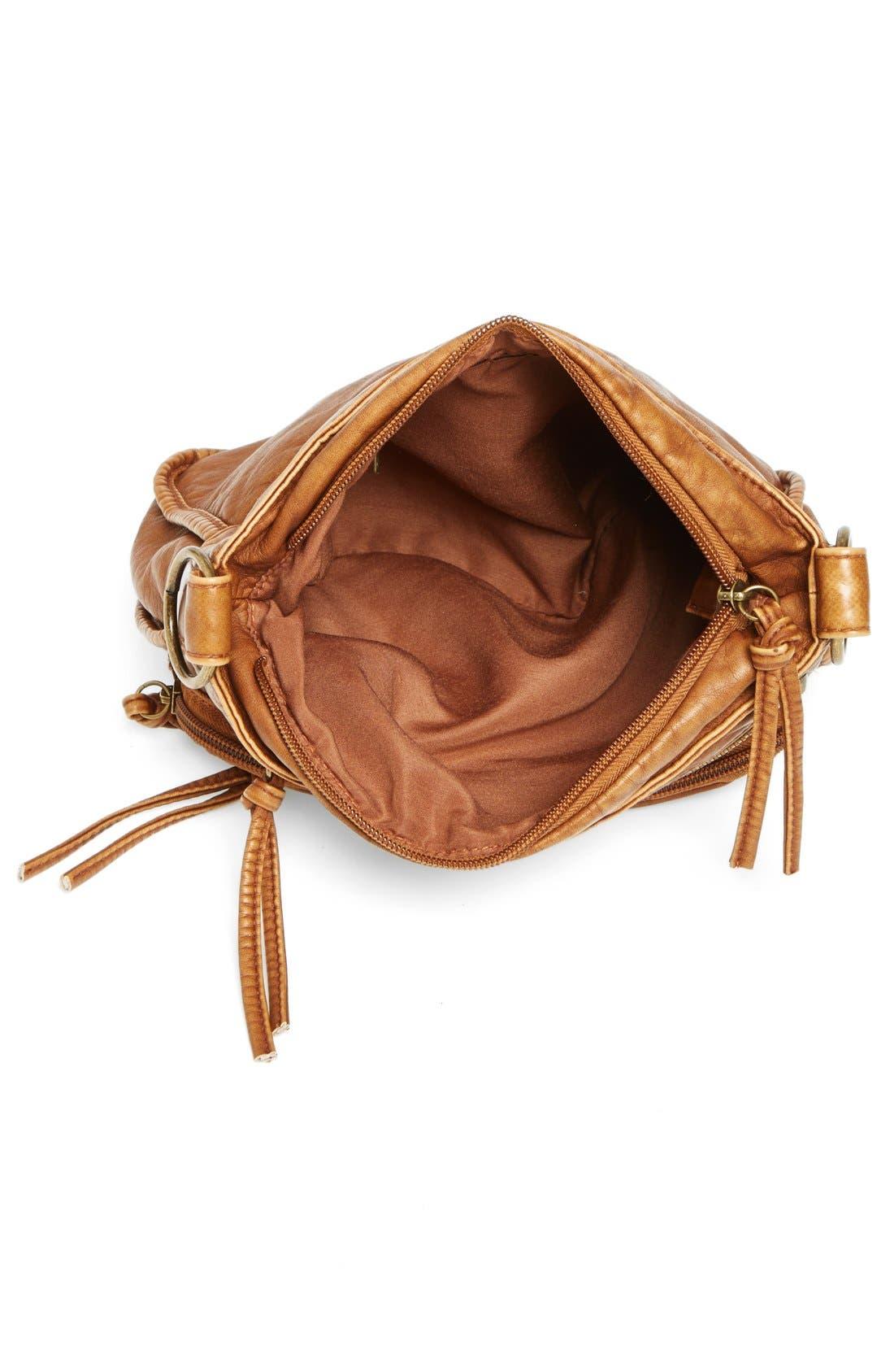 Alternate Image 2  - T-Shirt & Jeans Zip Pocket Small Crossbody Bag (Juniors)