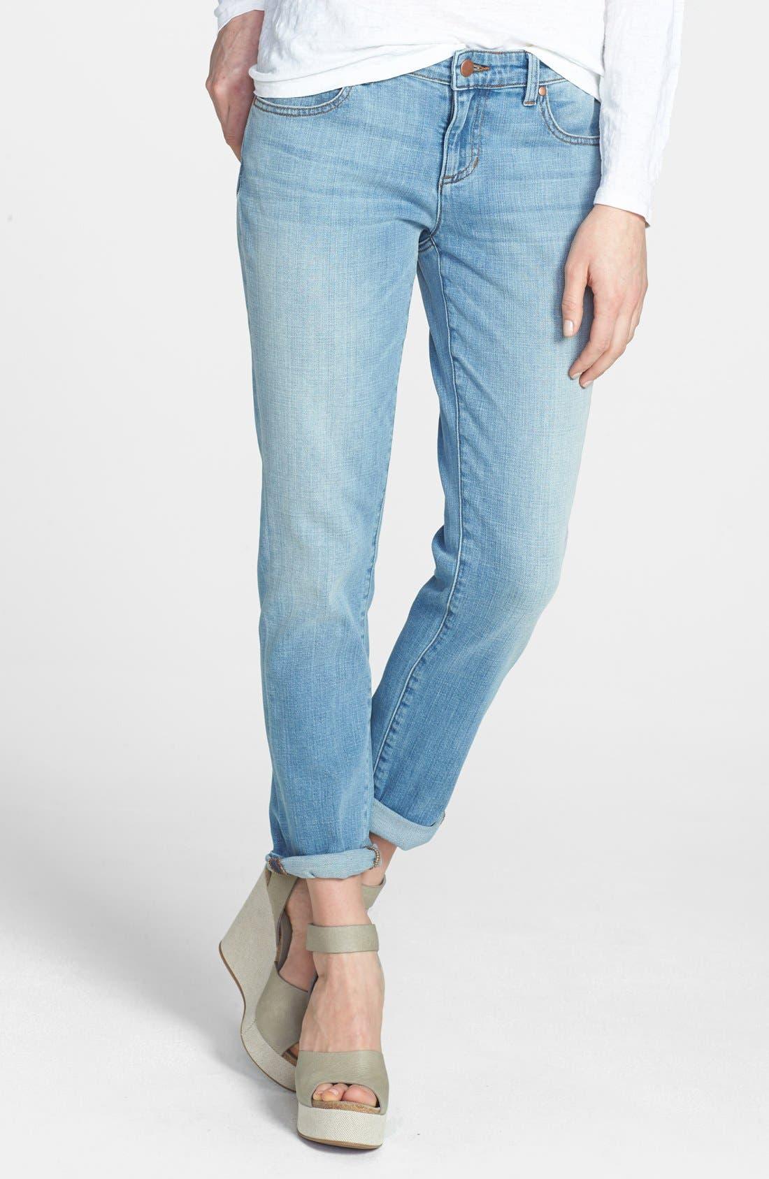 Alternate Image 1 Selected - Eileen Fisher Boyfriend Jeans (Regular & Petite)