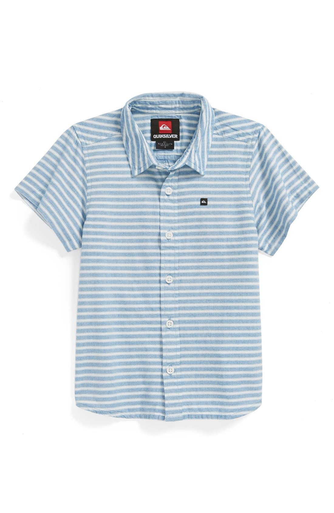 Alternate Image 1 Selected - Quiksilver 'Swamis' Stripe Shirt (Little Boys)