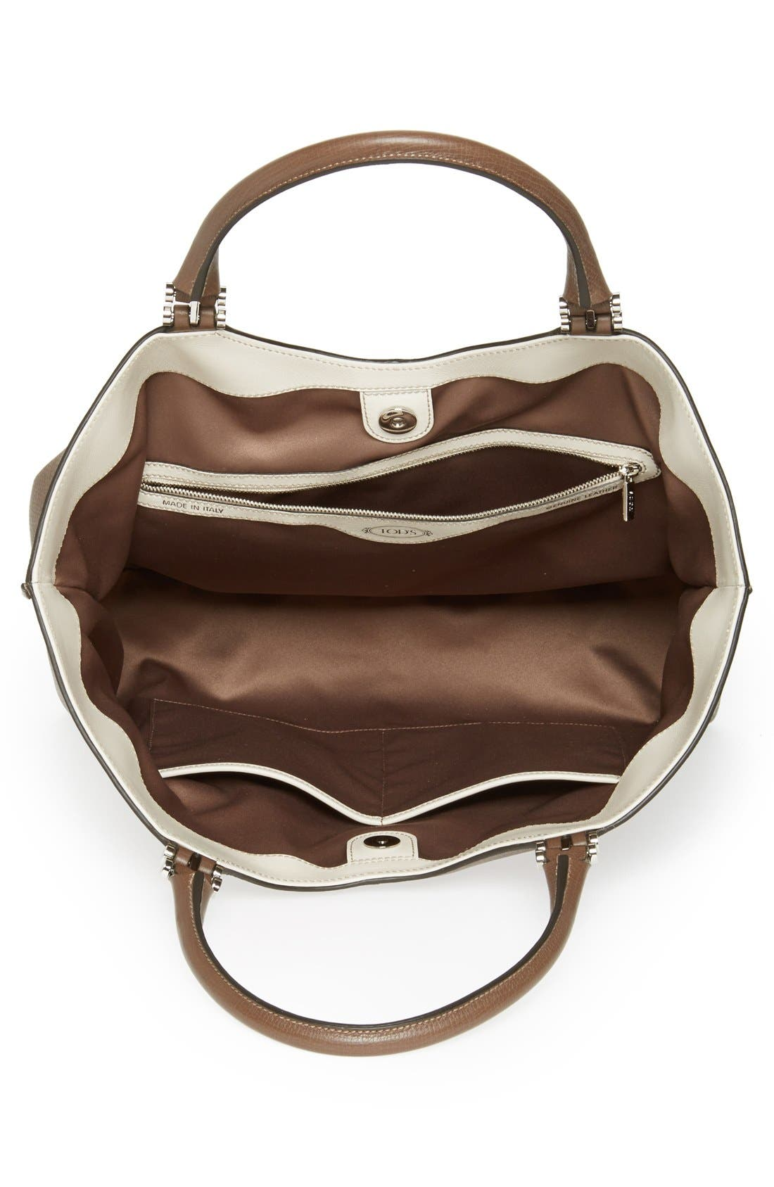 Alternate Image 3  - Tod's 'Alu - Grande' Leather Shopper