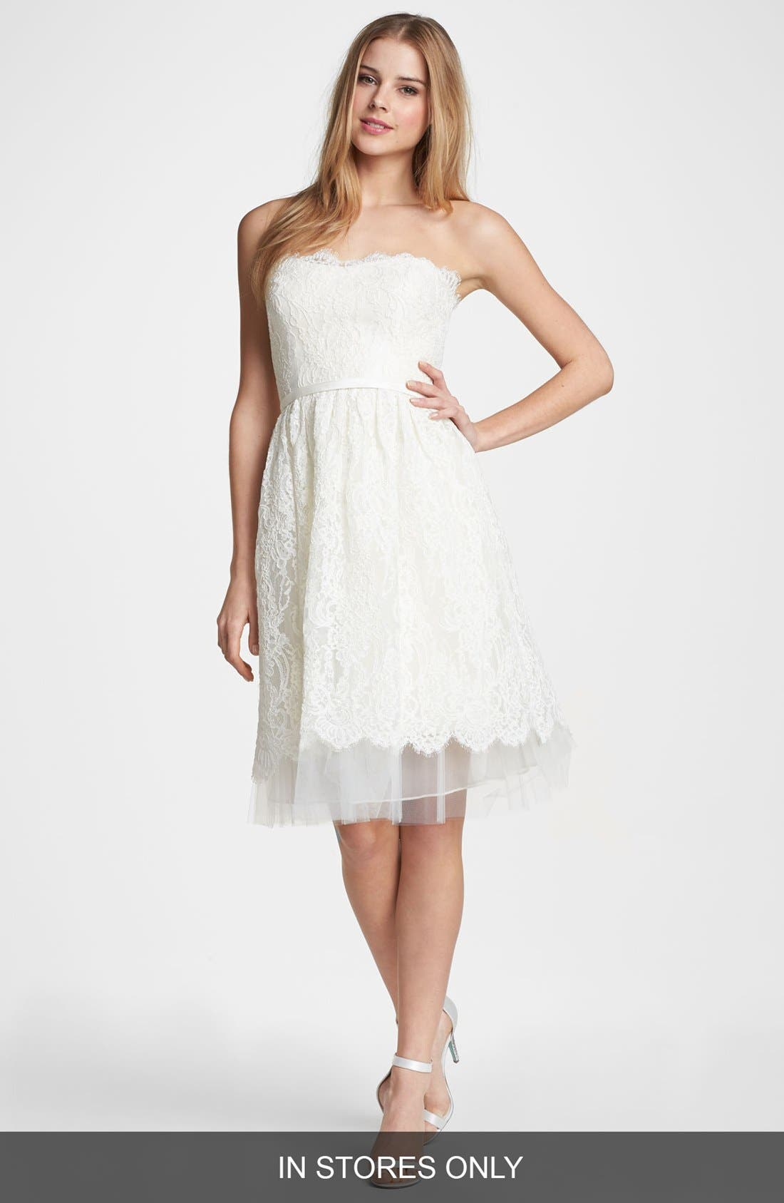 Alternate Image 1 Selected - Jenny Yoo 'Libby' Lace Fit & Flare Dress (In Stores Only)