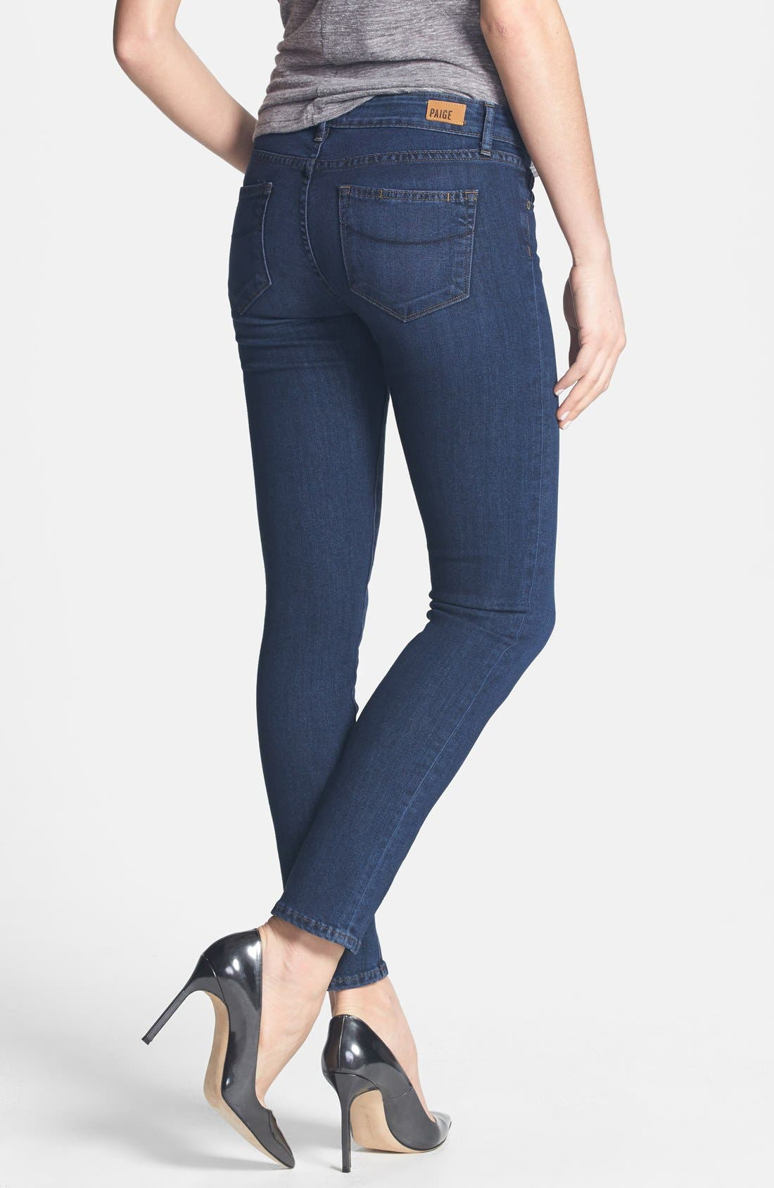 Alternate Image 2  - Paige Denim 'Skyline' Skinny Ankle Jeans (Claire)