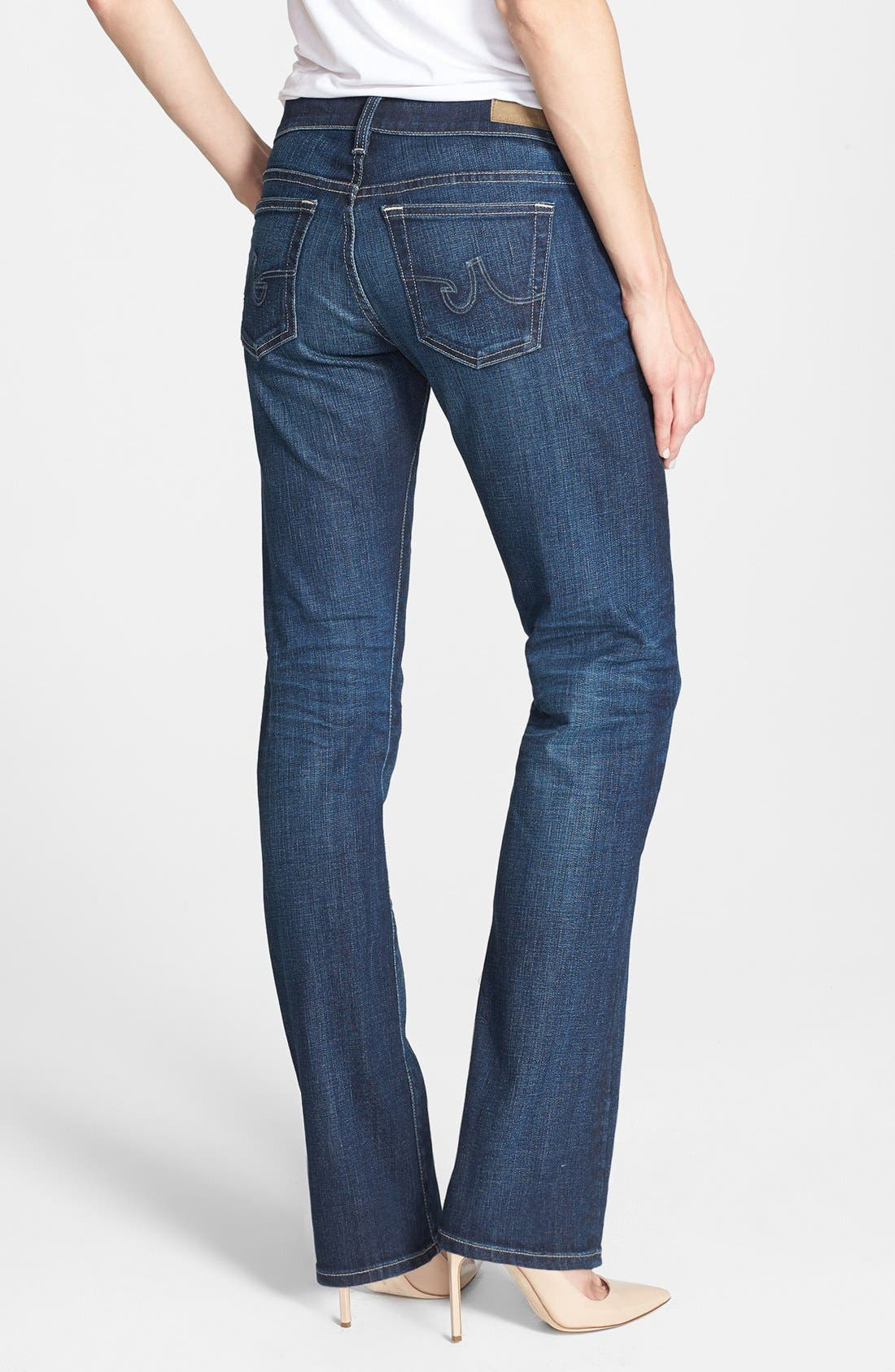 Alternate Image 2  - AG 'The Tomboy' Relaxed Straight Leg Jeans (Six Year Compass)
