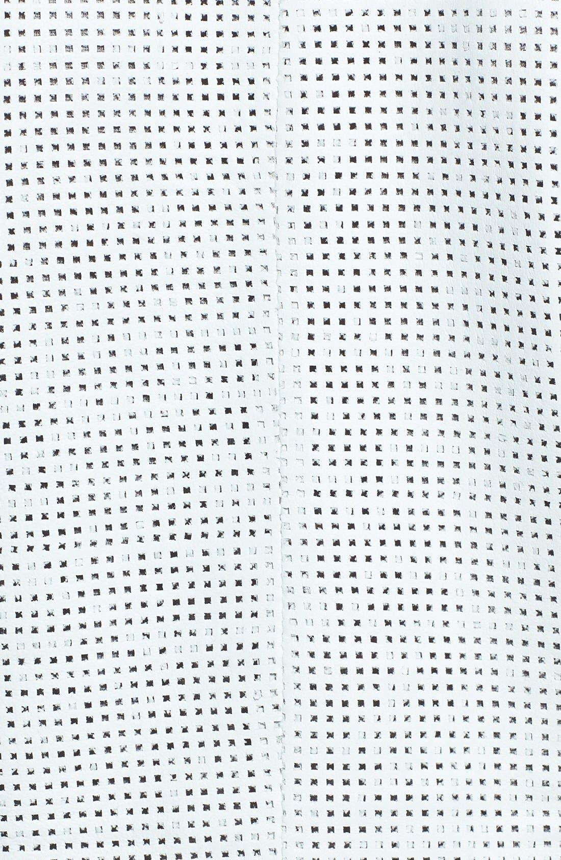 Alternate Image 3  - LaMarque Perforated Back Leather Jacket